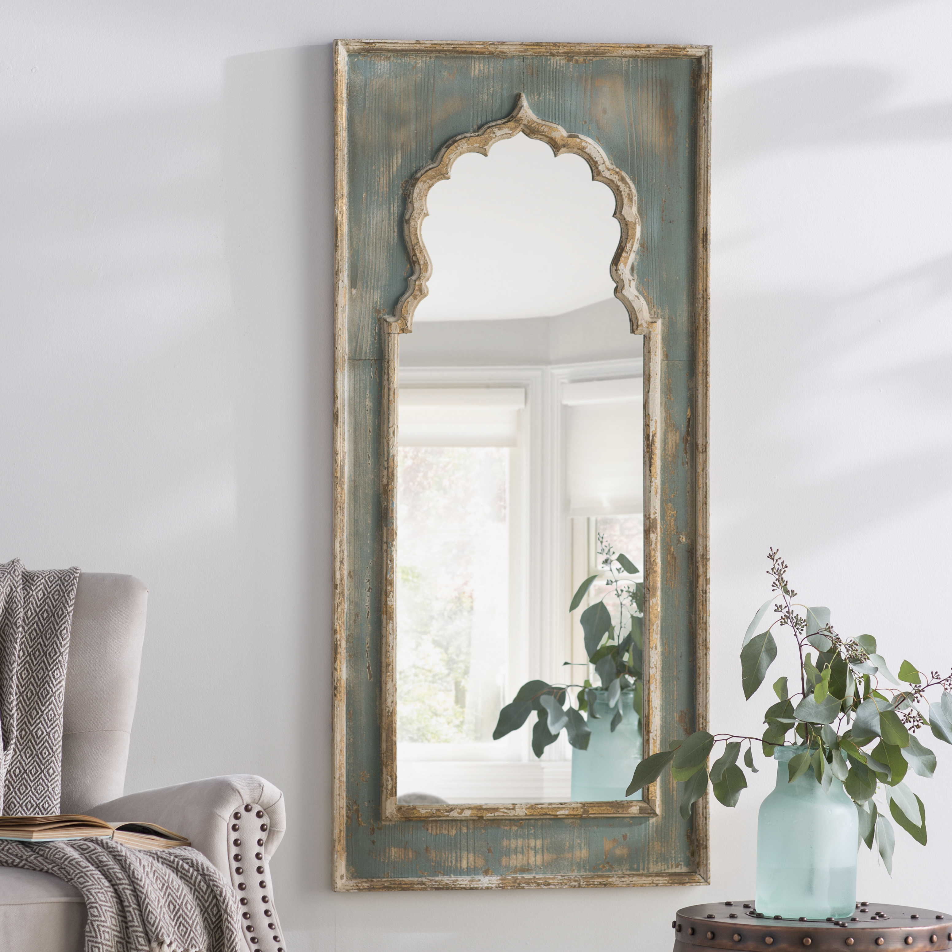 Latest Painted Wall Mirrors Pertaining To Isabell Painted Wooden Full Length Mirror (Gallery 11 of 20)