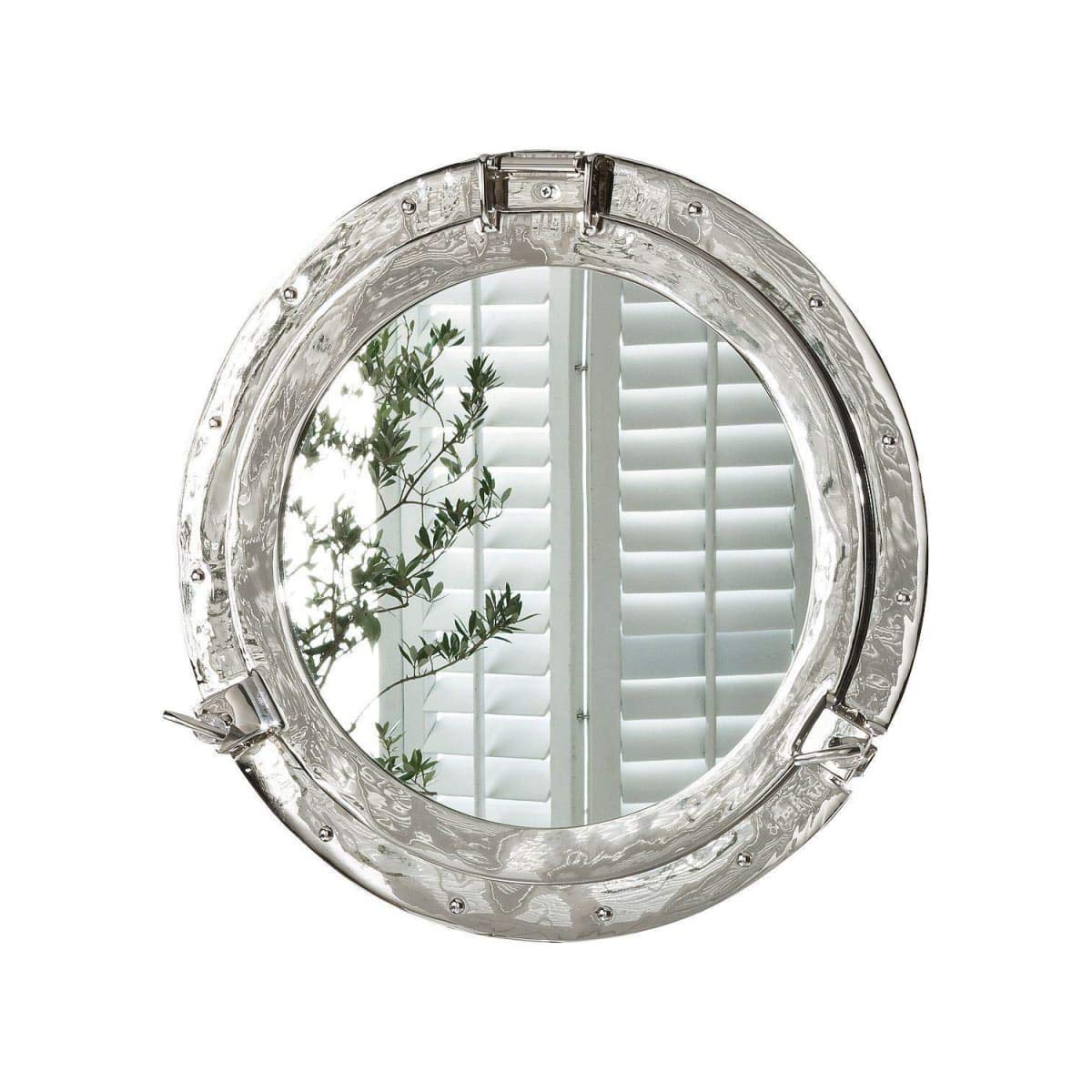 Latest Porthole Wall Mirrors Intended For Silver Aluminium Porthole Wall Mirror Ø 44 Cm (View 2 of 20)