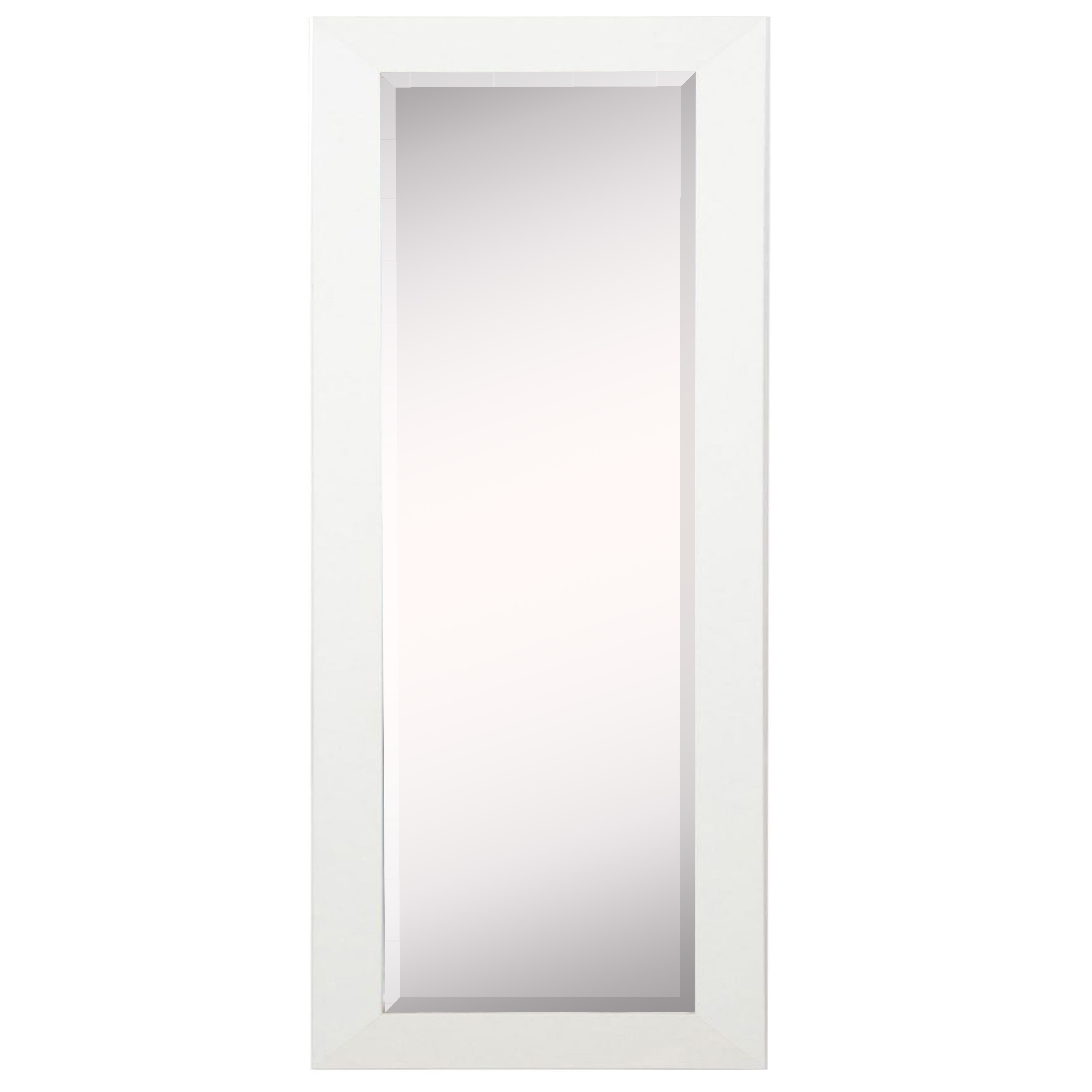Latest Rayne Mirrors White Satin Full Length Body Wall Mirror With Full Body Wall Mirrors (Gallery 3 of 20)