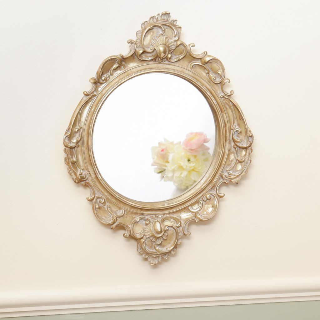Latest Shabby Chic Wall Mirrors For Ornate Shabby Chic Wall Mirror (View 10 of 20)