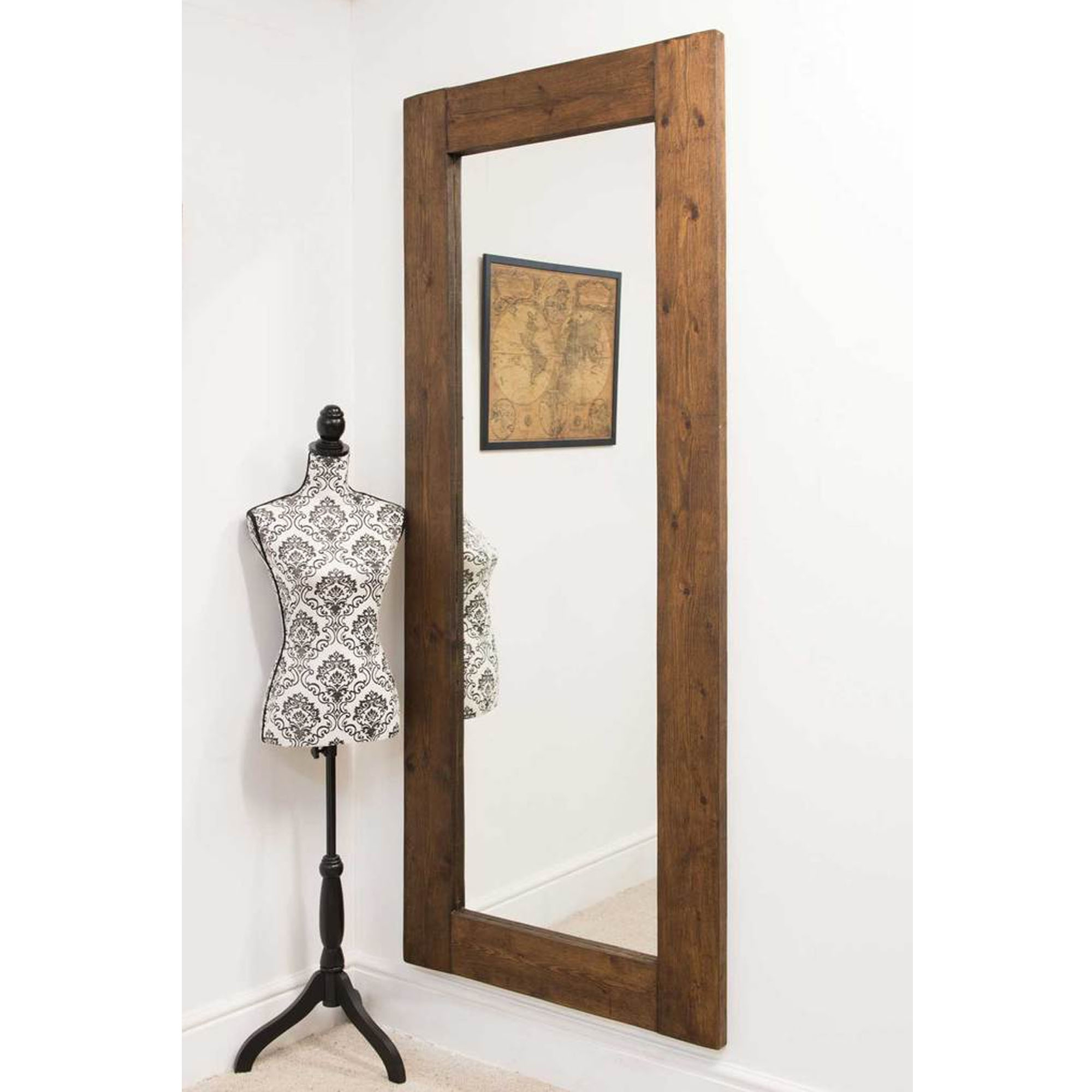 Latest Tall Narrow Wall Mirrors Throughout Tall Thin Rustic Country House Wall Mirror (View 6 of 20)
