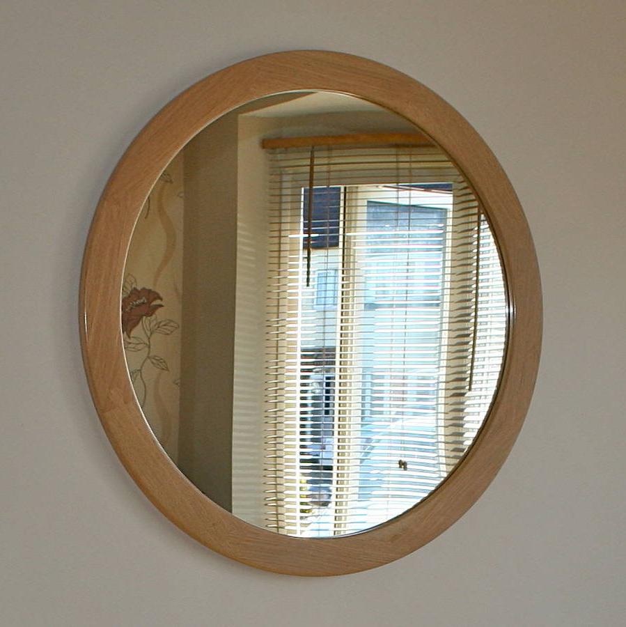 Latest The Big Round Oak Mirror For Big Round Wall Mirrors (View 8 of 20)