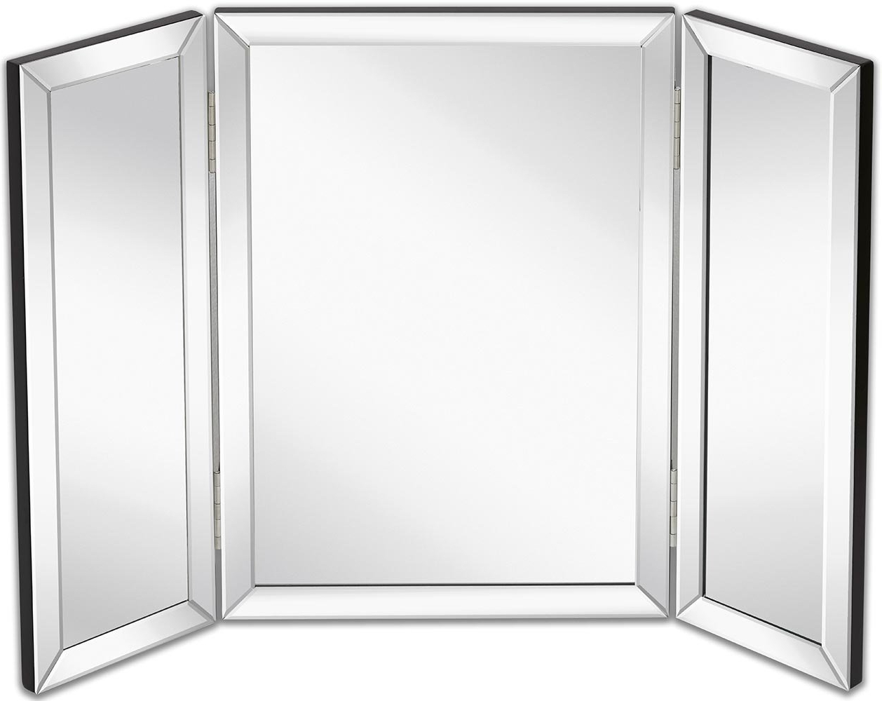 Latest Tri Fold Wall Mirrors For Hamilton Hills Trifold Vanity Mirror (View 17 of 20)