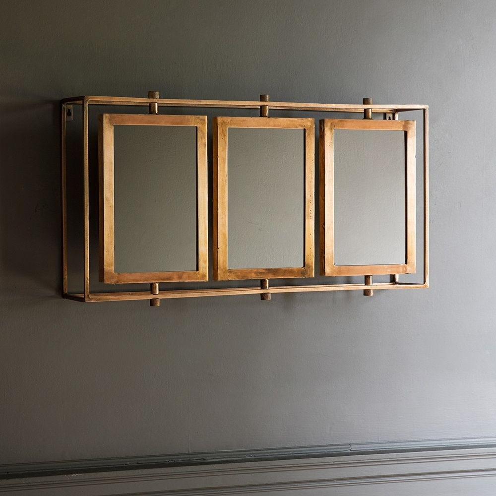 Latest Triple Wall Mirrors For Tribeca Triple Wall Mirror In Copper (View 7 of 20)
