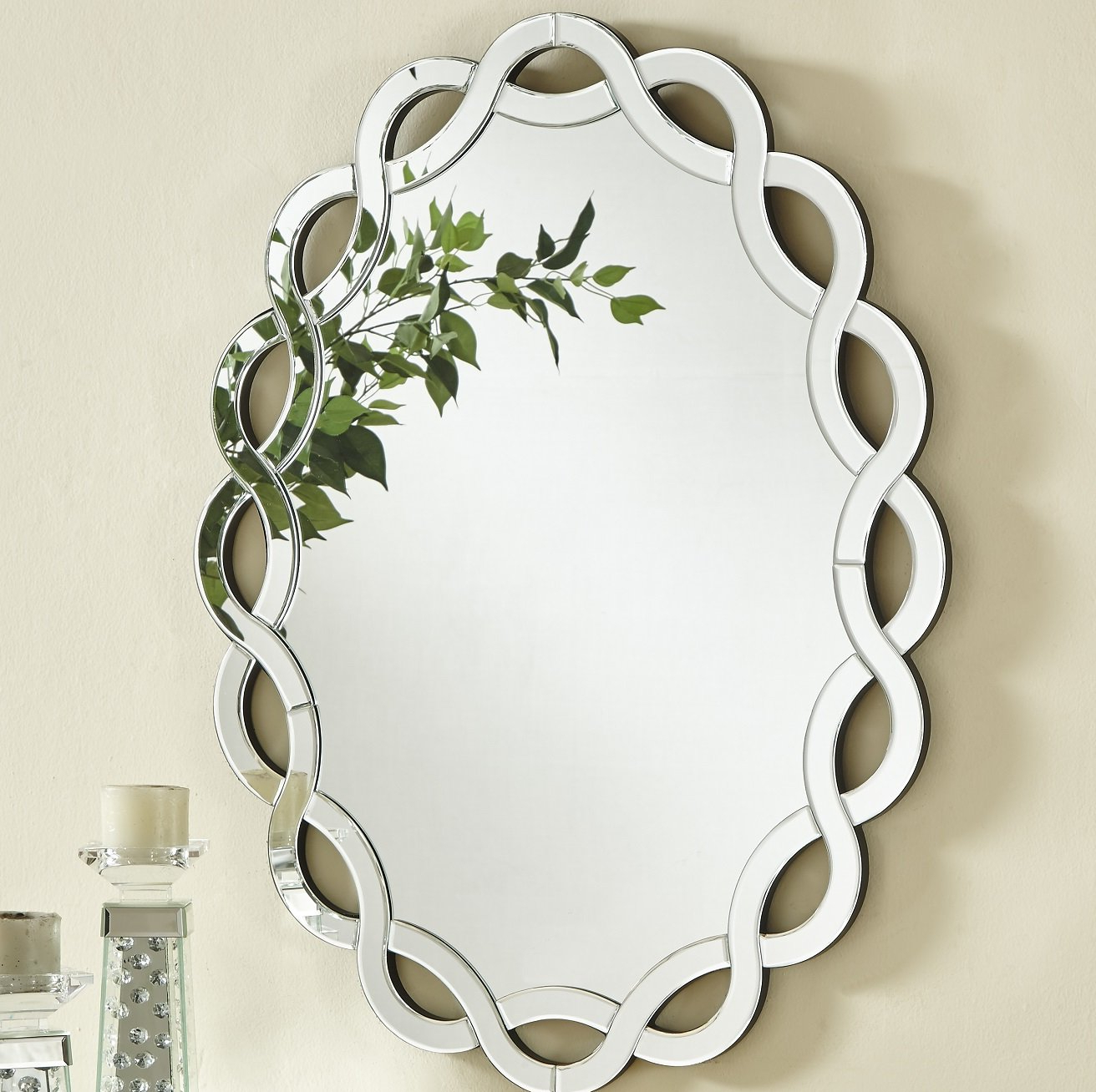 Latest Wheless Contemporary Oval Accent Mirror With Regard To Oval Metallic Accent Mirrors (Gallery 13 of 20)