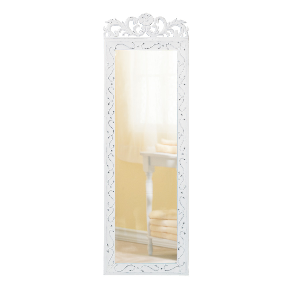 Latest White Long Wall Mirrors Intended For Details About Accent Plus – Elegant White Wall Mirror (Gallery 19 of 20)