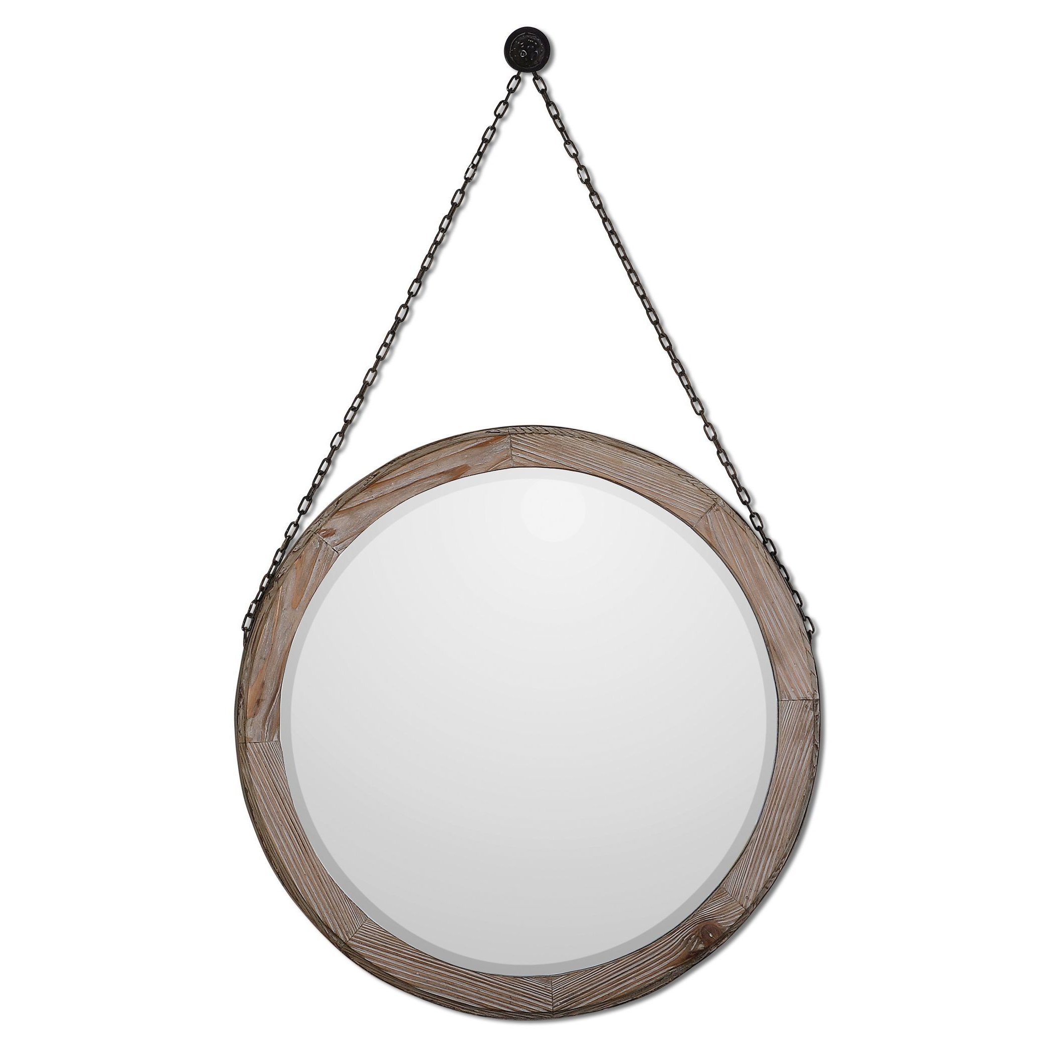 Laurel Foundry Modern & Contemporary Accent Mirrors For Trendy Round Wood Wall Mirror (View 19 of 20)