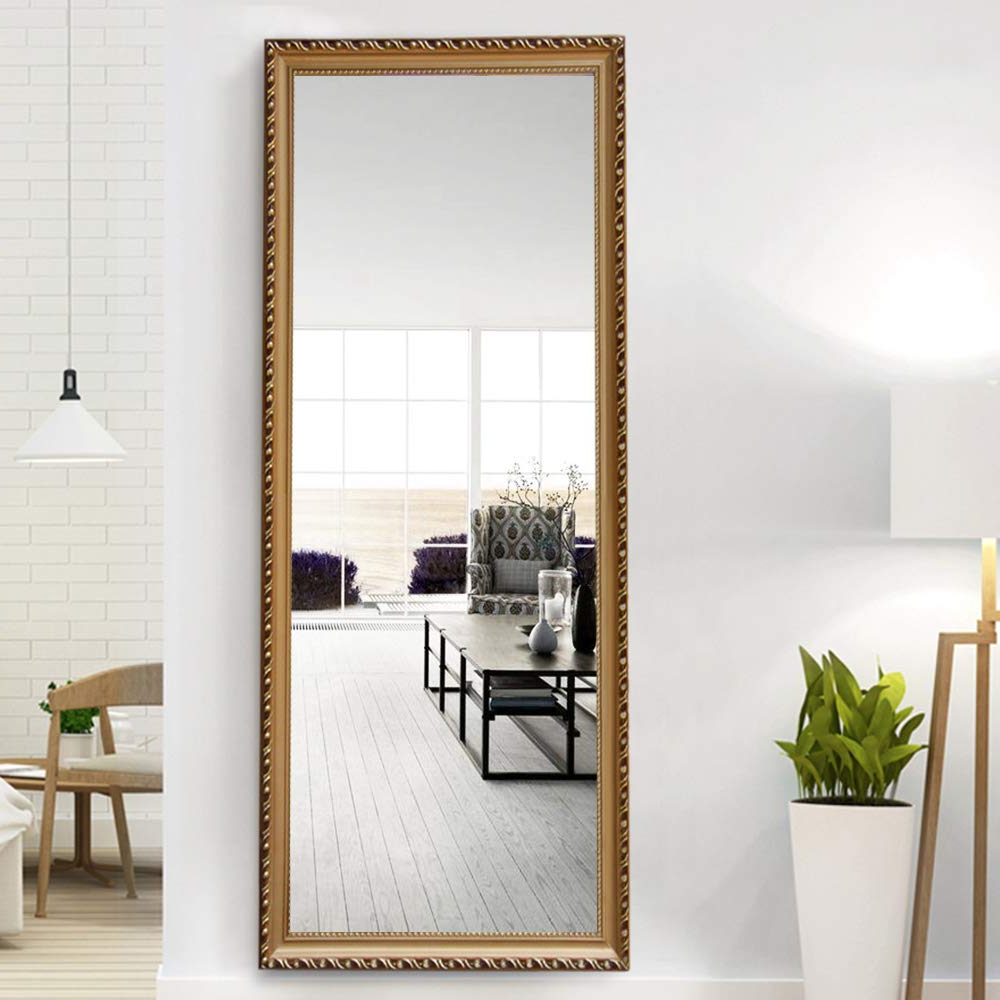 Leaning Wall Mirrors Intended For Well Known Neutype Full Length Mirror Standing Hanging Or Leaning Against Wall, Large Rectangle Bedroom Mirror Floor Mirror Dressing Mirror Wall Mounted Mirror, (View 8 of 20)