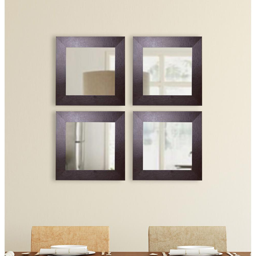 Leather Wall Mirrors Intended For Well Known 18 In. X 18 In. Wide Brown Square Leather Wall Mirrors (Set Of 3) (Gallery 4 of 20)