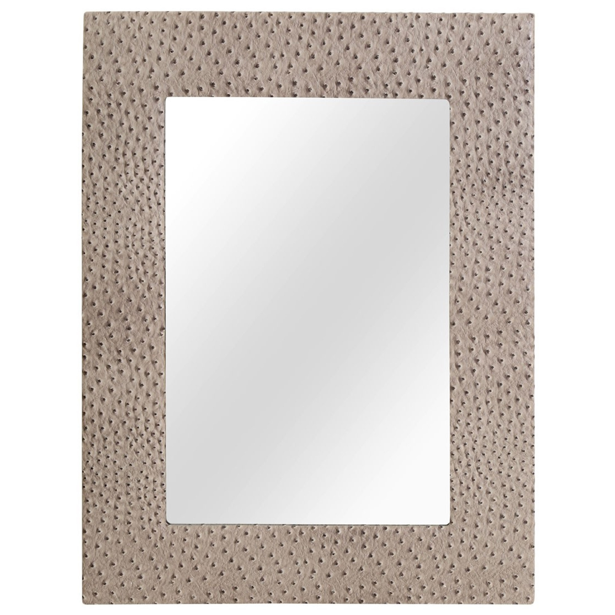 Leather Wall Mirrors Throughout Preferred Ostrich Leather Wall Mirror (Gallery 1 of 20)
