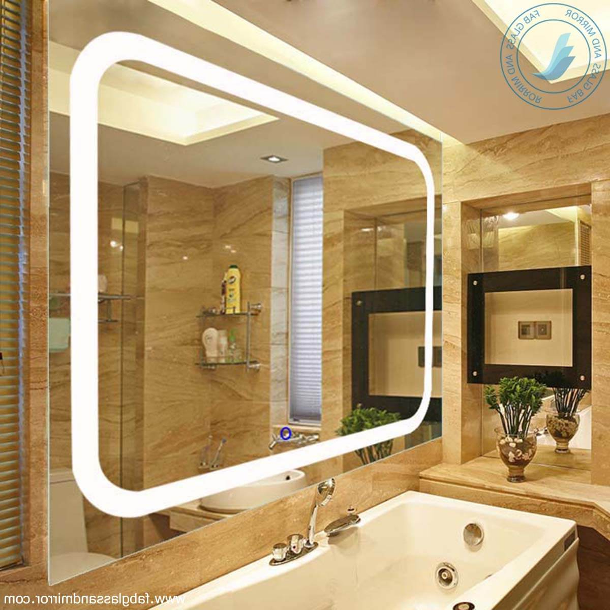 Led Wall Mirrors Inside 2019 Modern Led Wall Mirrors, Bathroom Led Lighted Wall Mirror – Wall Mounted (View 8 of 20)