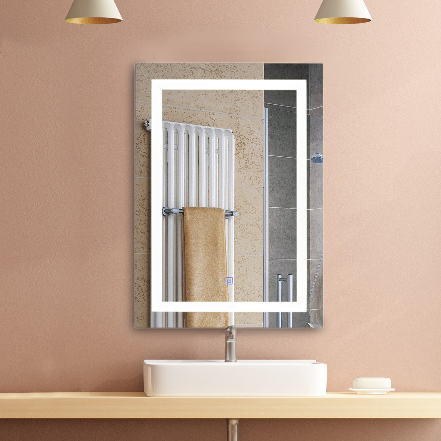 Led Wall Mirrors Regarding Best And Newest Details About Illuminated Led Bathroom Vanity Mirrors With Lights Modern Makeup Wall Mirror (View 10 of 20)