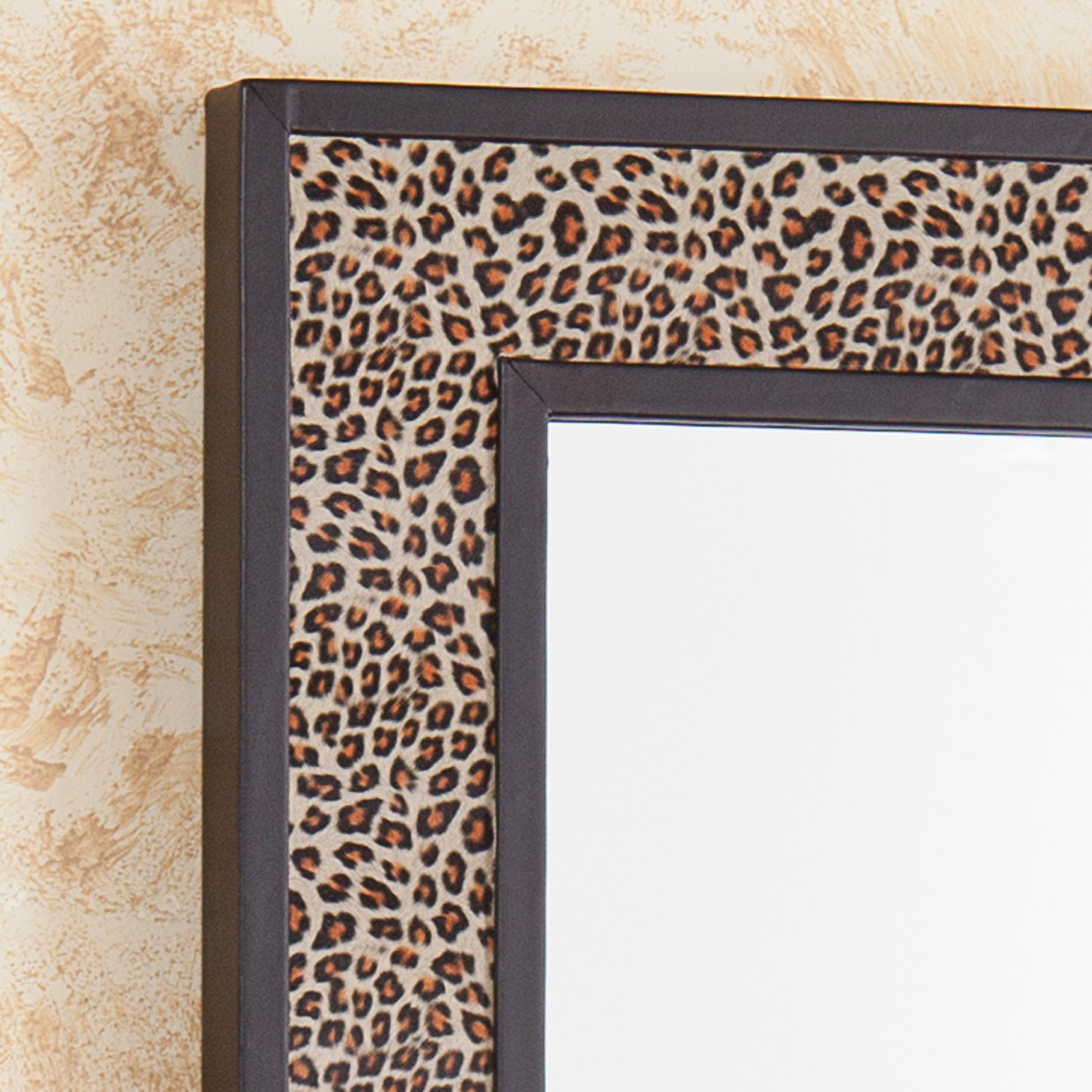 Leopard Wall Mirrors Throughout Well Liked Amazon: Sei Decorative Wall Art Mirror – Leopard Print – Hangs (View 9 of 20)