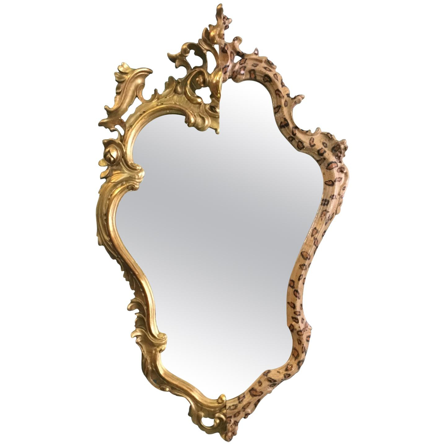 Leopard Wall Mirrors With Regard To Well Known Contemporary Wall Mirror From Two Gilded And Leopard Spot Painted Antique  Frames (View 10 of 20)
