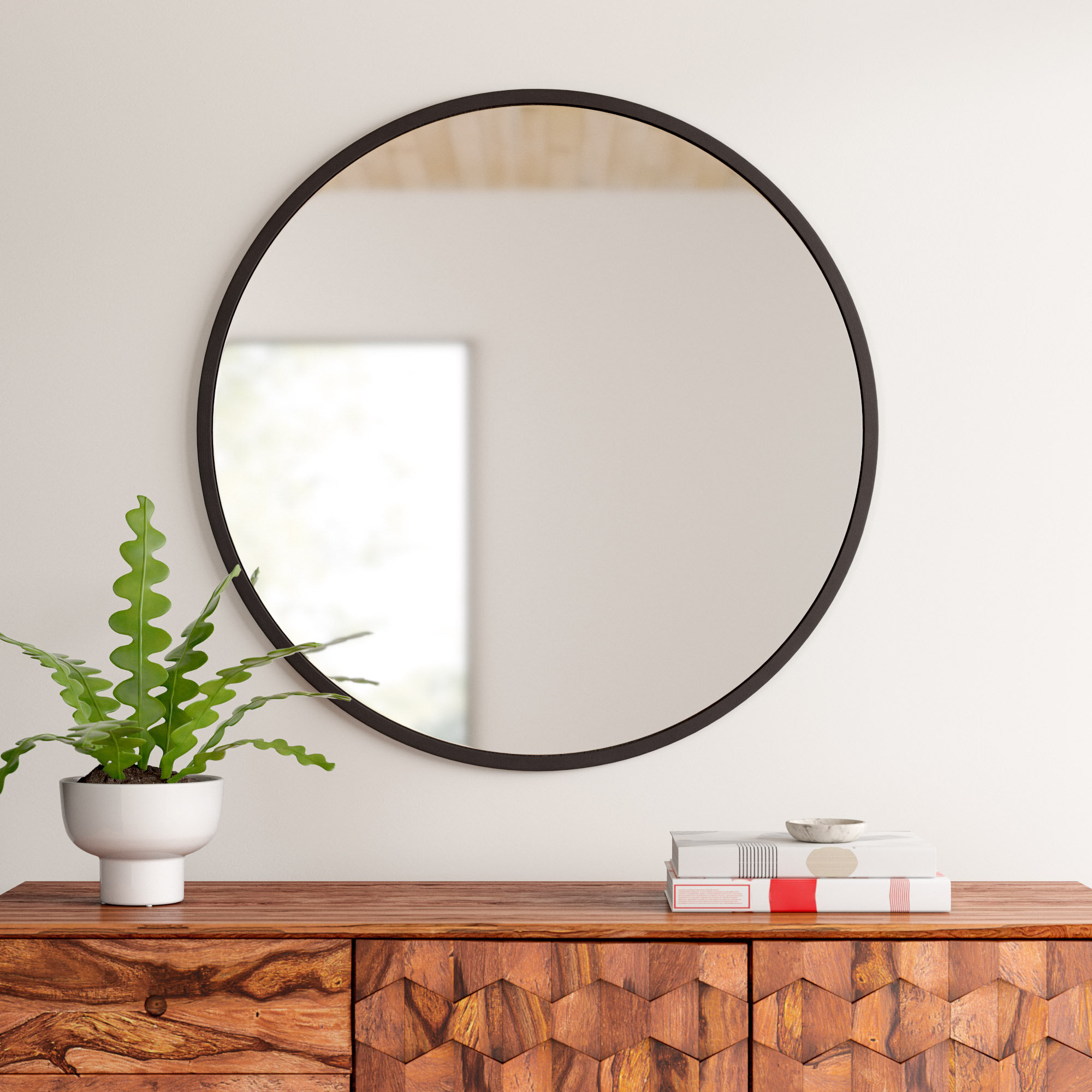 Levan Modern & Contemporary Accent Mirrors Pertaining To Popular Umbra Hub Modern And Contemporary Accent Mirror (Gallery 13 of 20)