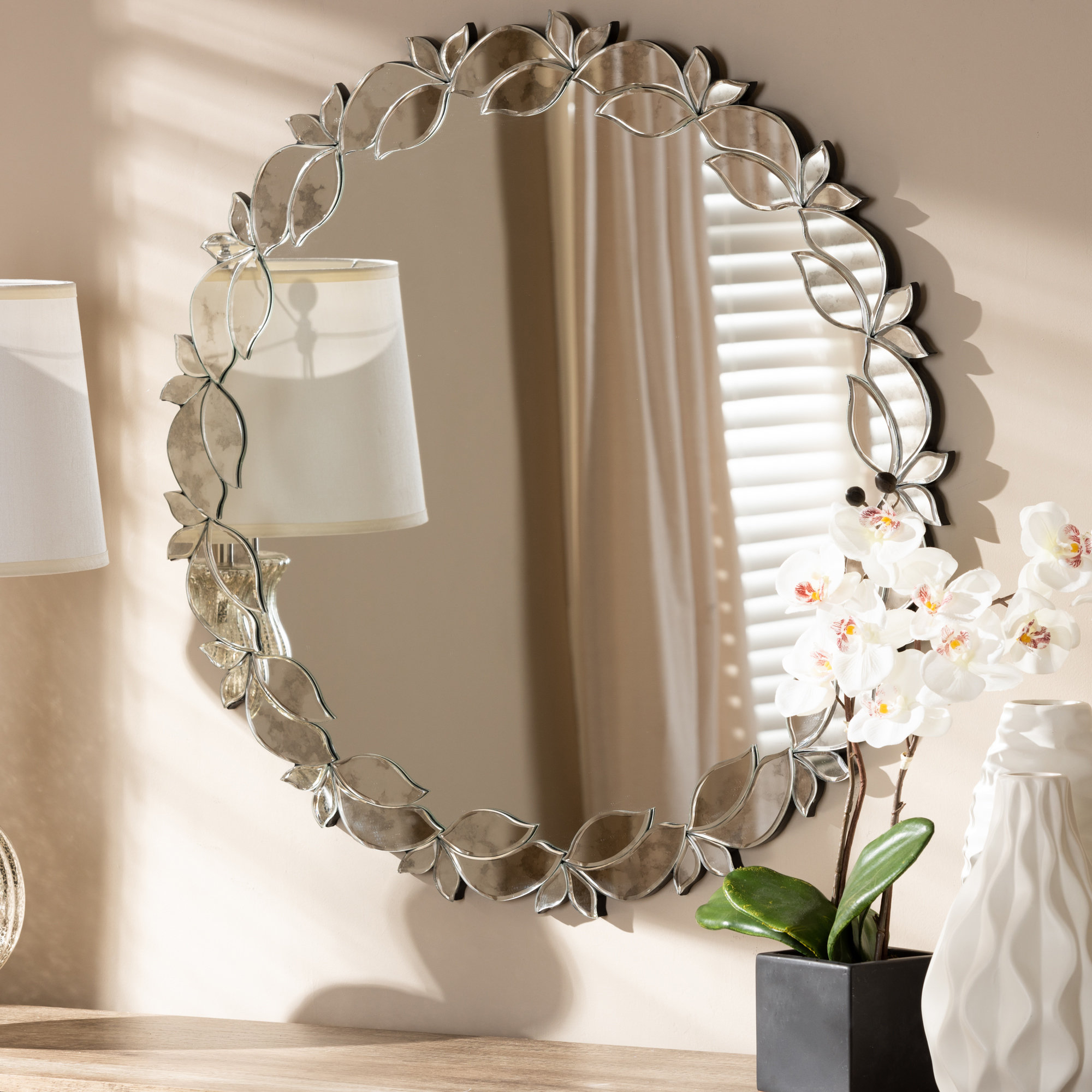 Lidya Frameless Beveled Wall Mirrors With Regard To Fashionable Isom Modern & Contemporary Wall Mirror (View 11 of 20)