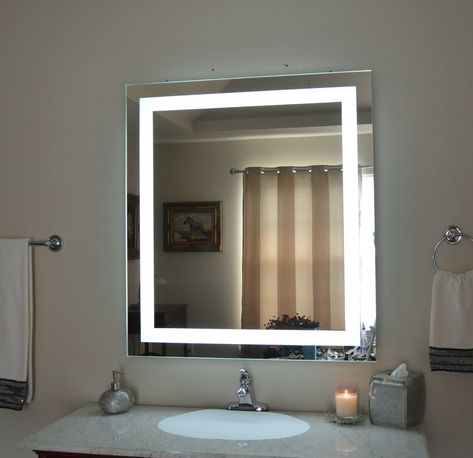 Light Up Wall Mirror Led Grow Light Depot Light Up Wall Mirror Bathroom Inside Popular Light Up Wall Mirrors (Gallery 14 of 20)
