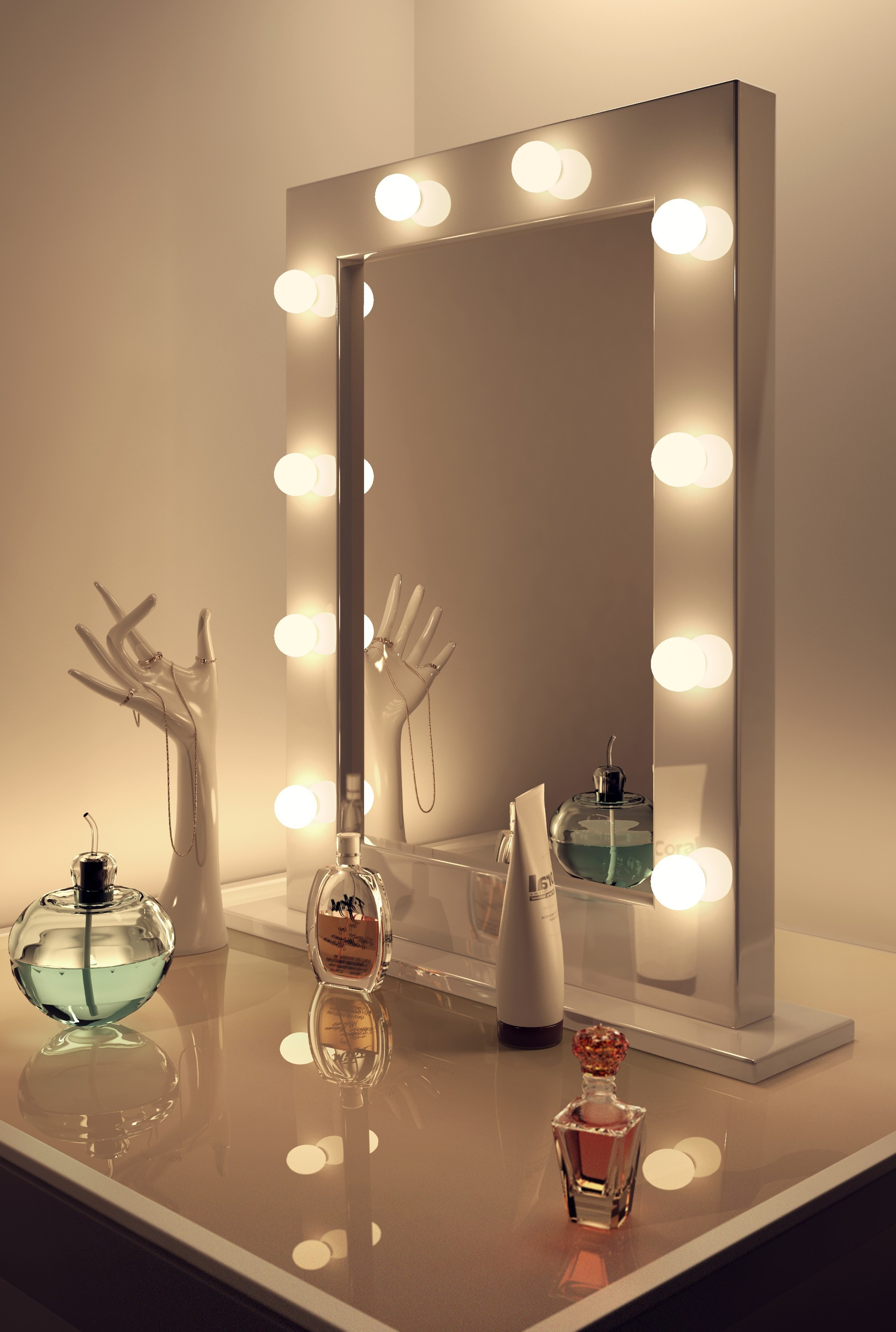 Light Up Wall Mirrors Within Recent Vanity Wall Mirror With Lights – A Great Way To Light Up Your Space (View 12 of 20)