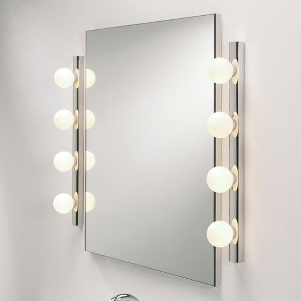 Light Wall Mirrors Within Preferred Cabaret 4 Ip44 Bathroom Wall Mirror Light (Gallery 3 of 20)