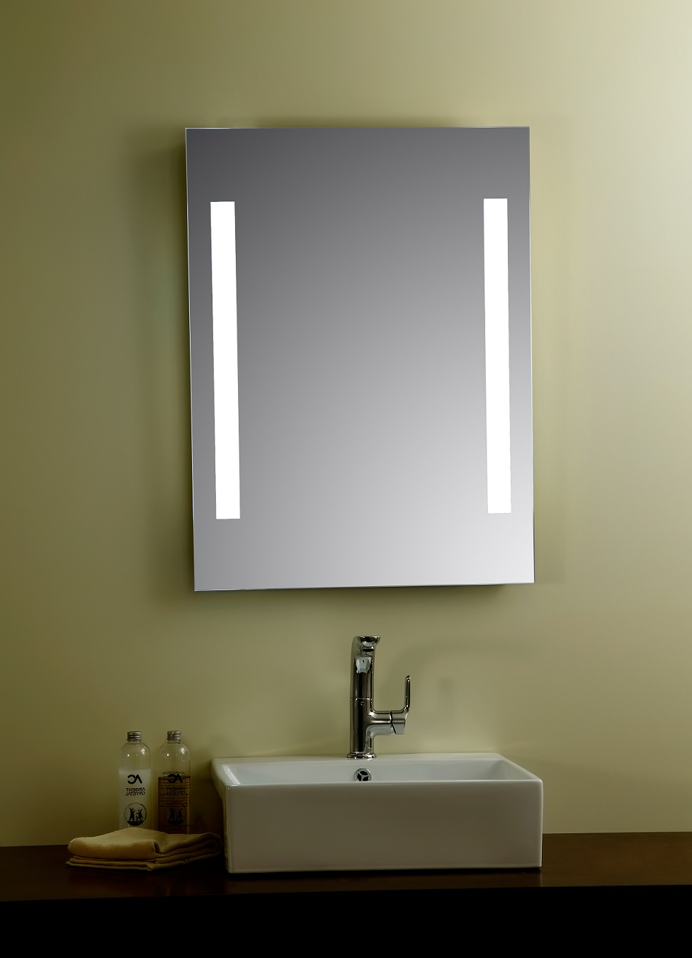 Lighted Bathroom Wall Mirrors Intended For Well Known Livorno Lighted Vanity Mirror Led Bathroom Mirror (View 11 of 20)