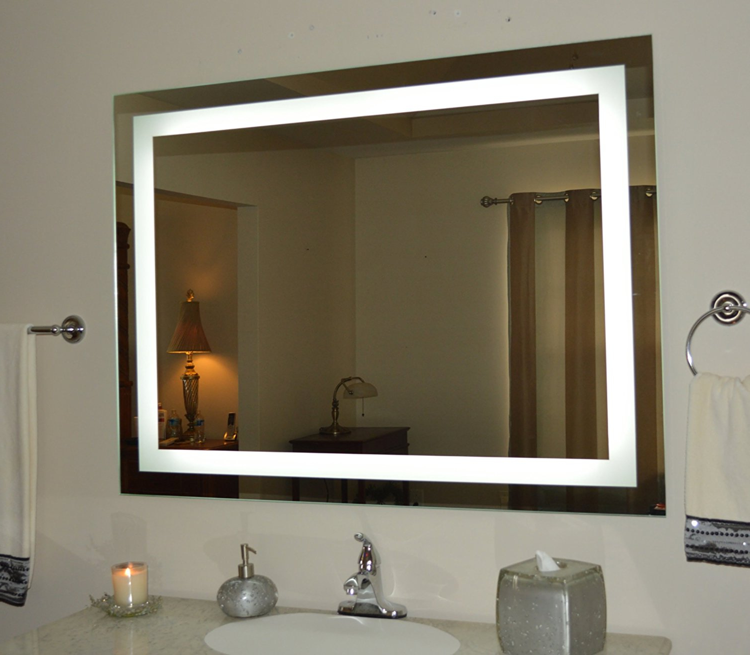 Lighted Vanity Mirror Wall — Awesome House Lighting : Perfect Within Favorite Lighted Vanity Wall Mirrors (View 6 of 20)