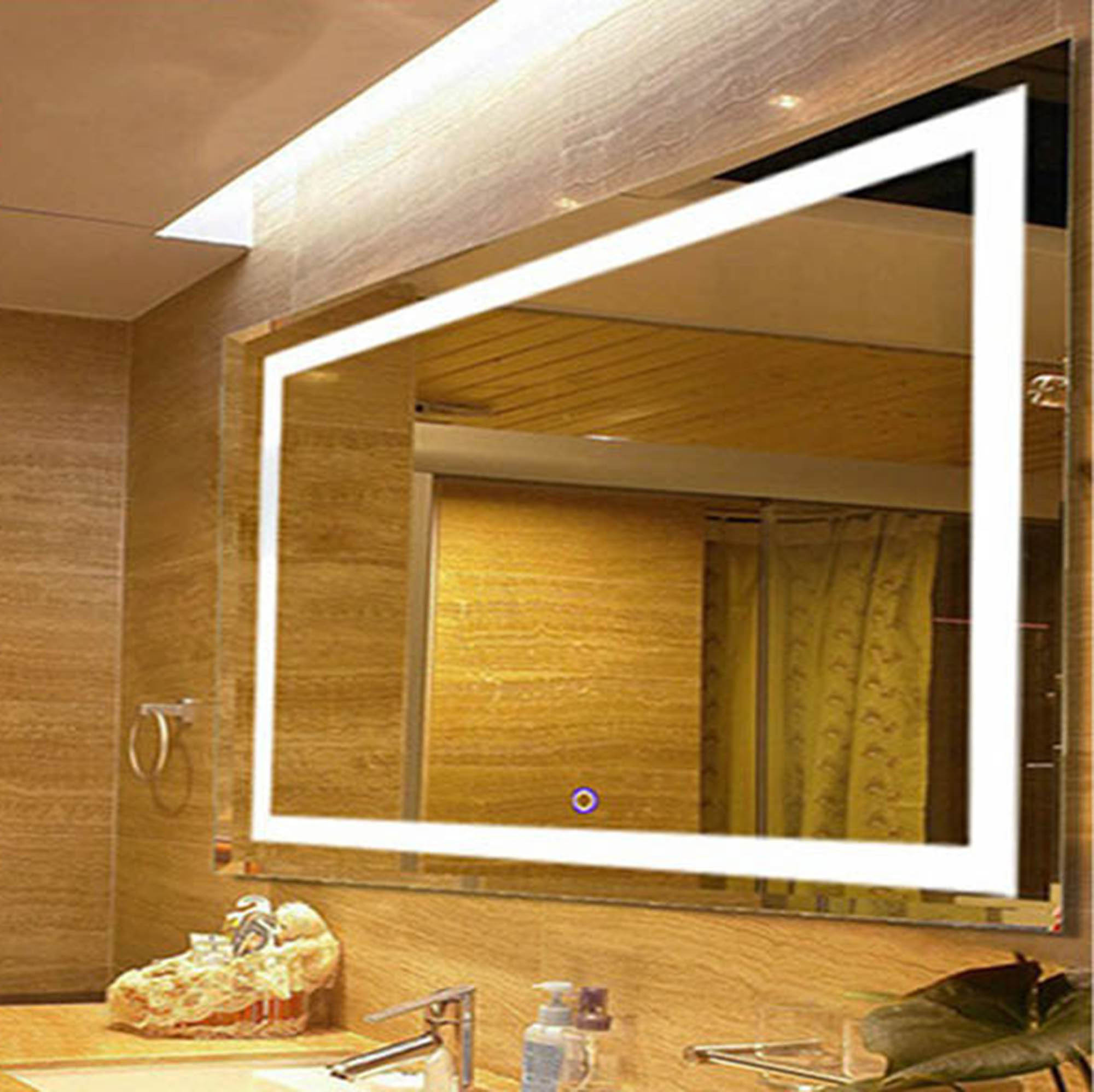 """Lighted Vanity Wall Mirrors With Regard To 2019 Bathroom Wall Mounted Led Lighted Vanity Mirror 31""""X23"""" (Gallery 19 of 20)"""