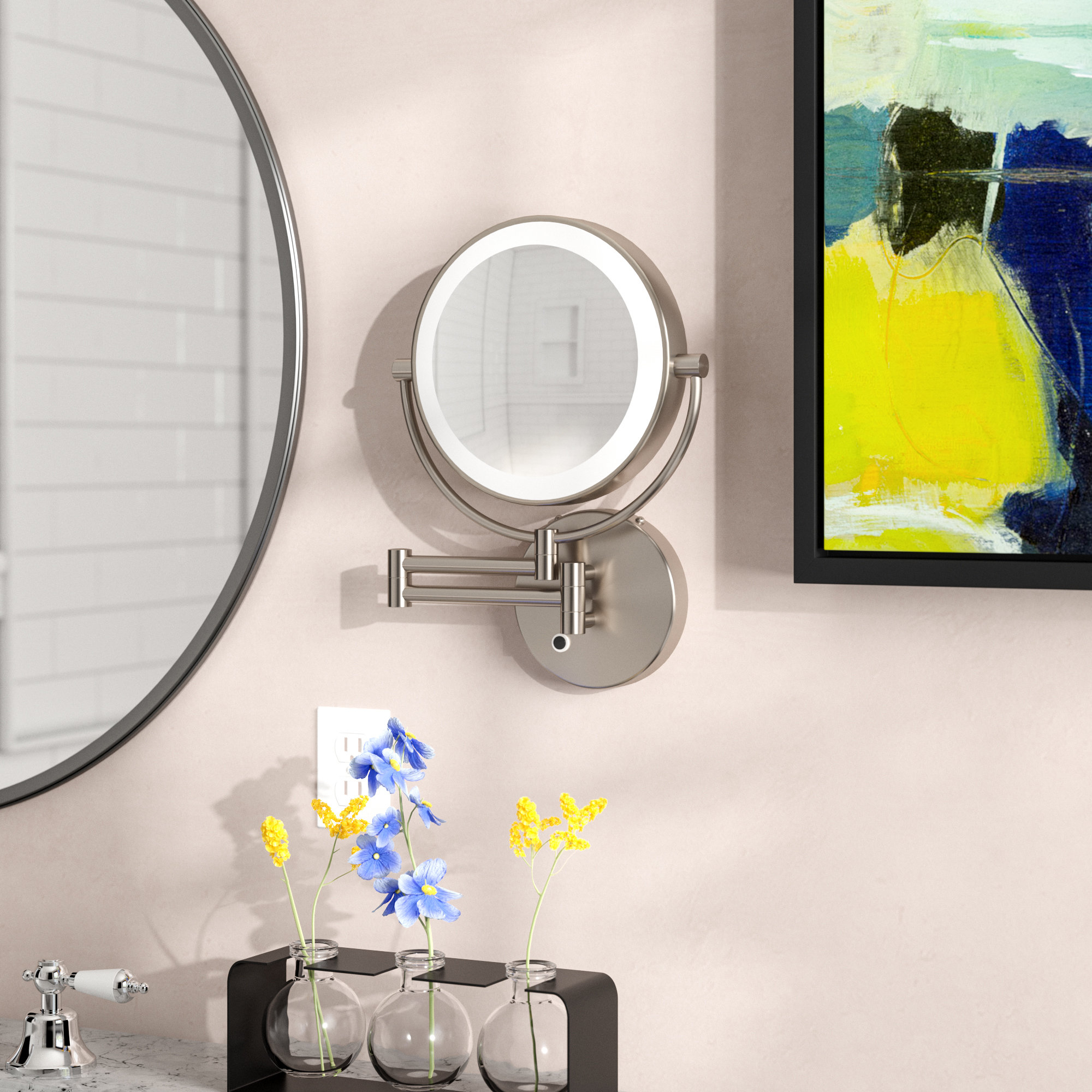 Lighted Wall Mirrors With Regard To Well Known Howell Lighted Wall Mount Mirror (View 14 of 20)