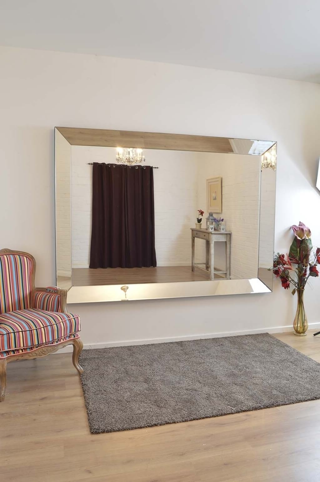 Living Full Length Frameless Wall Mirror • Bathroom Mirrors In Current Frameless Full Length Wall Mirrors (Gallery 7 of 20)