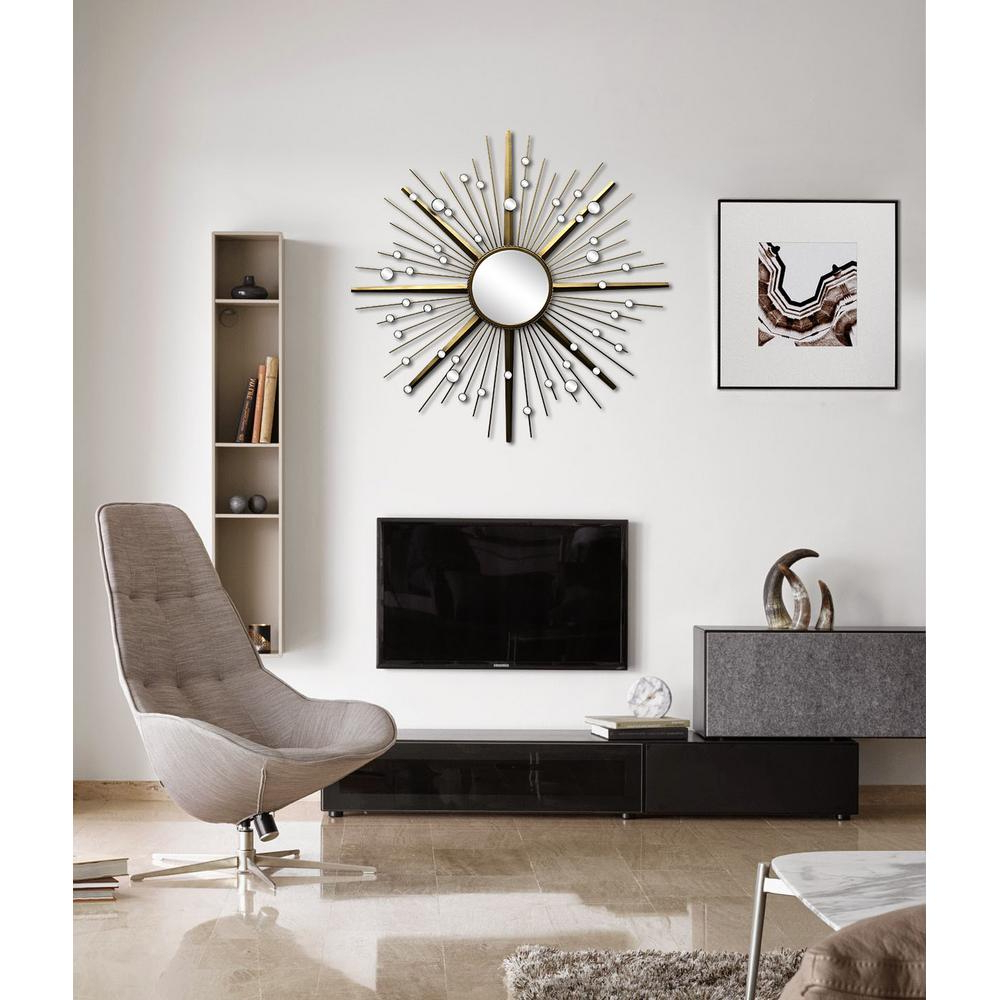 Living Room Wall Mirrors In Favorite Renwil 36 In. X 36 In. North Framed Wall Mirror (Gallery 19 of 20)