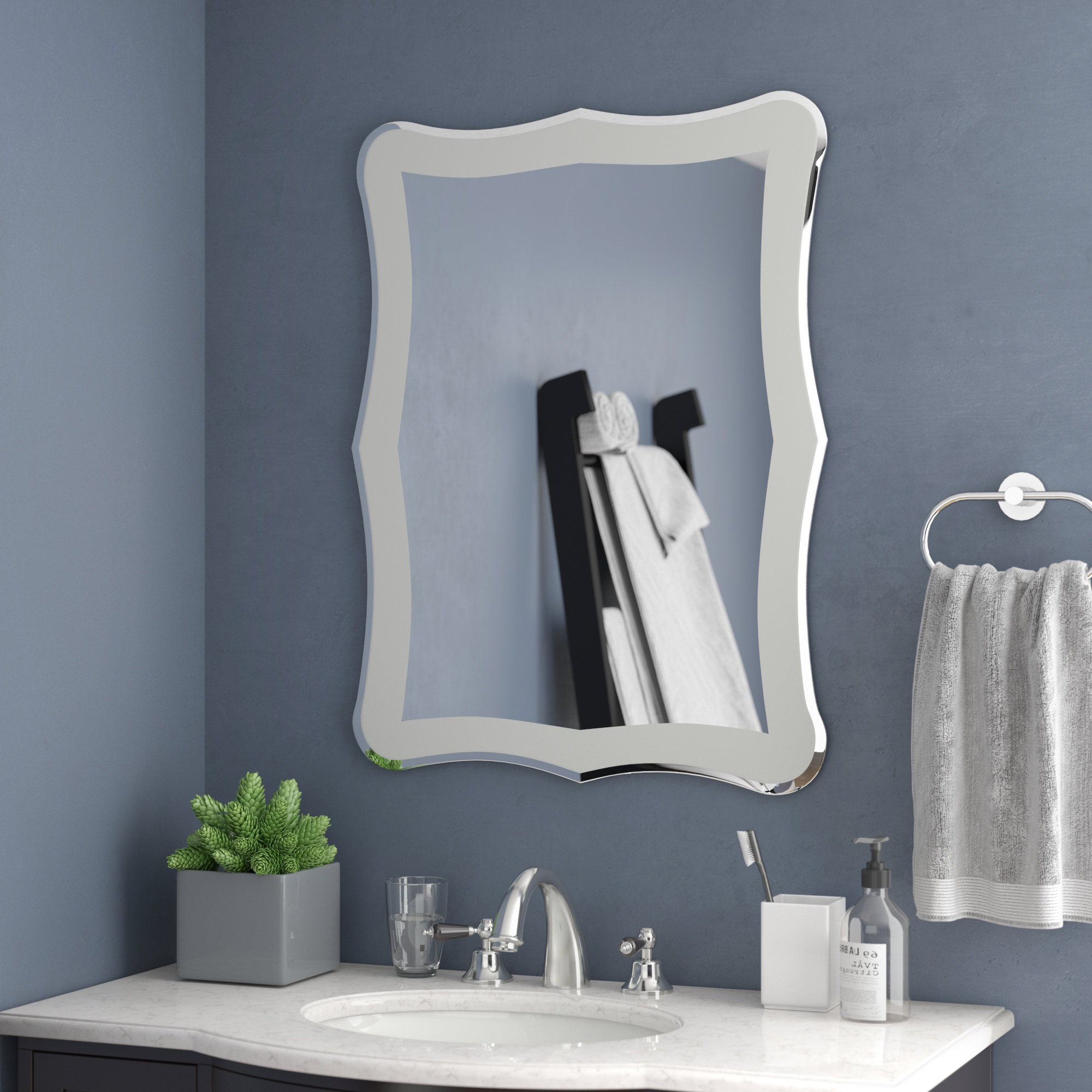 Logan Frameless Wall Mirror In Newest Frameless Large Wall Mirrors (View 18 of 20)