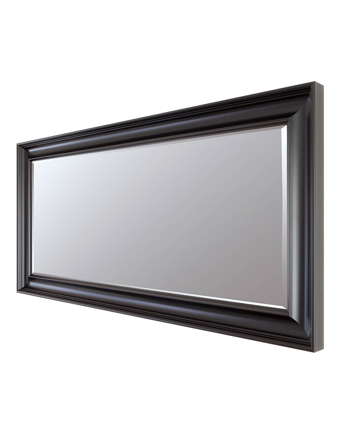 Long Black Wall Mirrors Regarding Most Popular Luxe Black 77X138Cm Long Wall Mirror (Gallery 13 of 20)