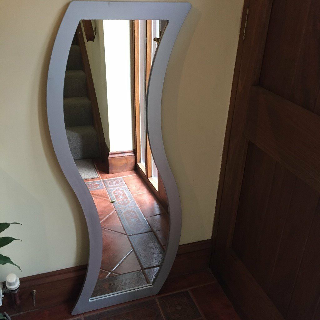 Long Silver Wall Mirrors Throughout Most Current Long Curved Wall Mirror With Silver Frame (View 14 of 20)
