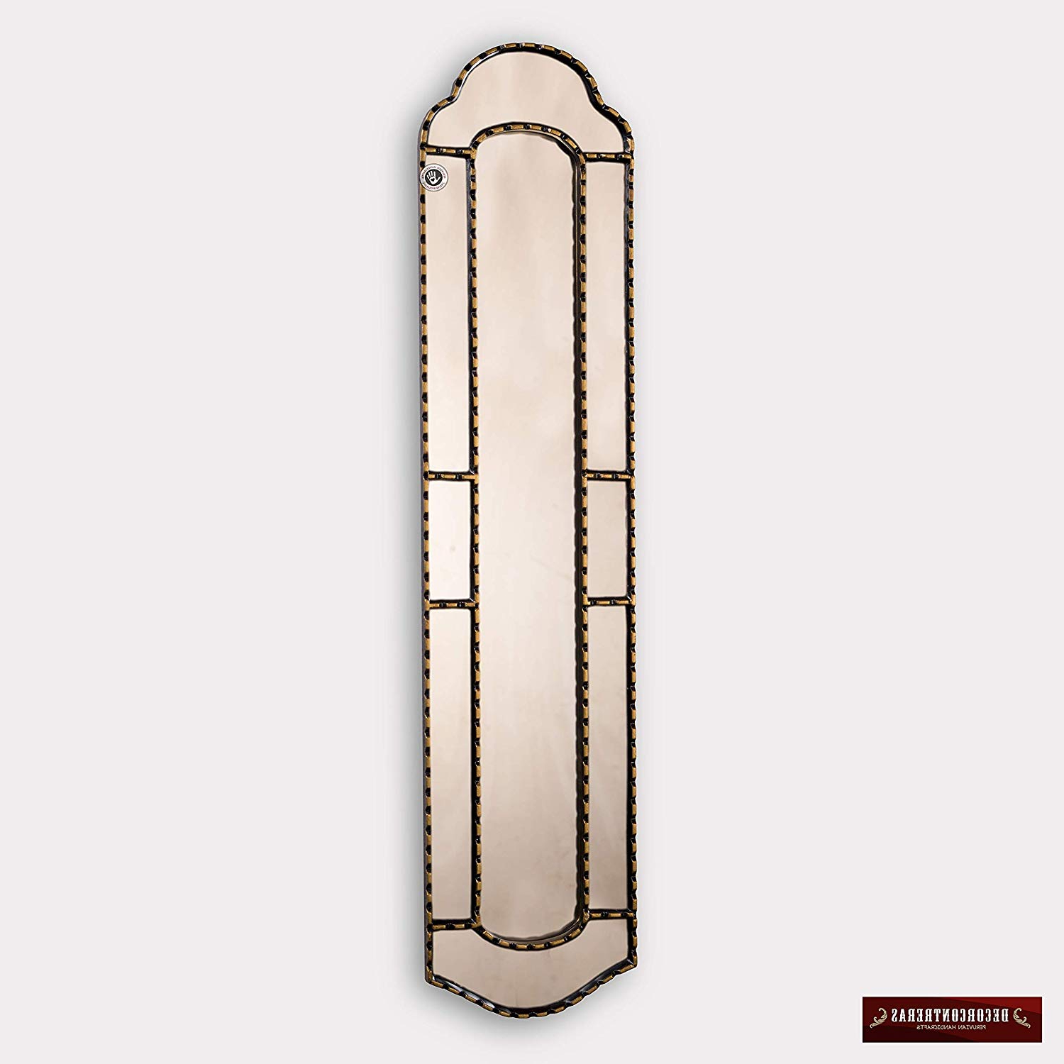 "Long Thin Wall Mirrors In Famous Amazon: Long Narrow Wall Mirror 35.8"" Tall, Antique Gold Narrow (Gallery 10 of 20)"