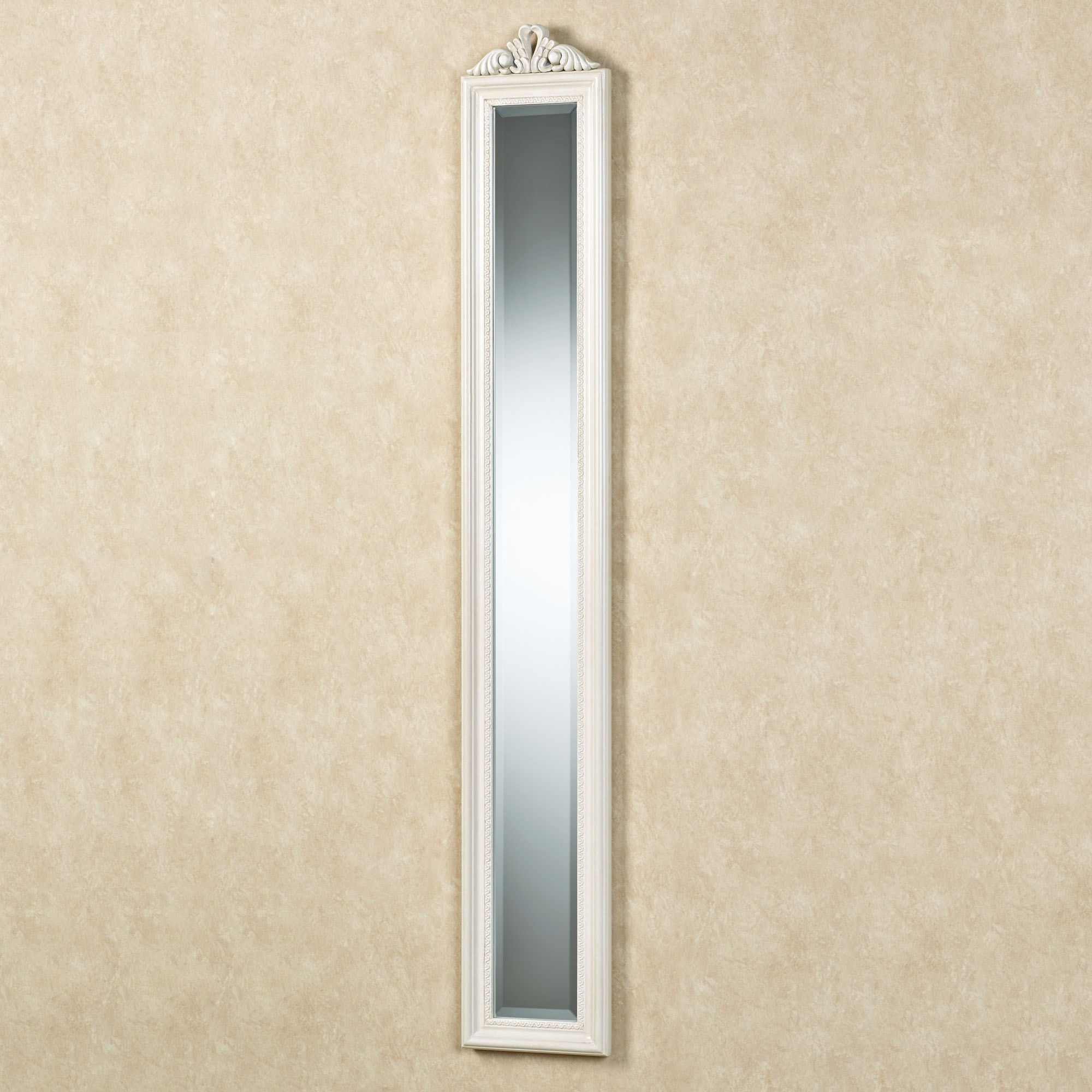 Long Wall Mirrors In Widely Used Bellmae Ivory Finish Long Panel Wall Mirror (View 11 of 20)