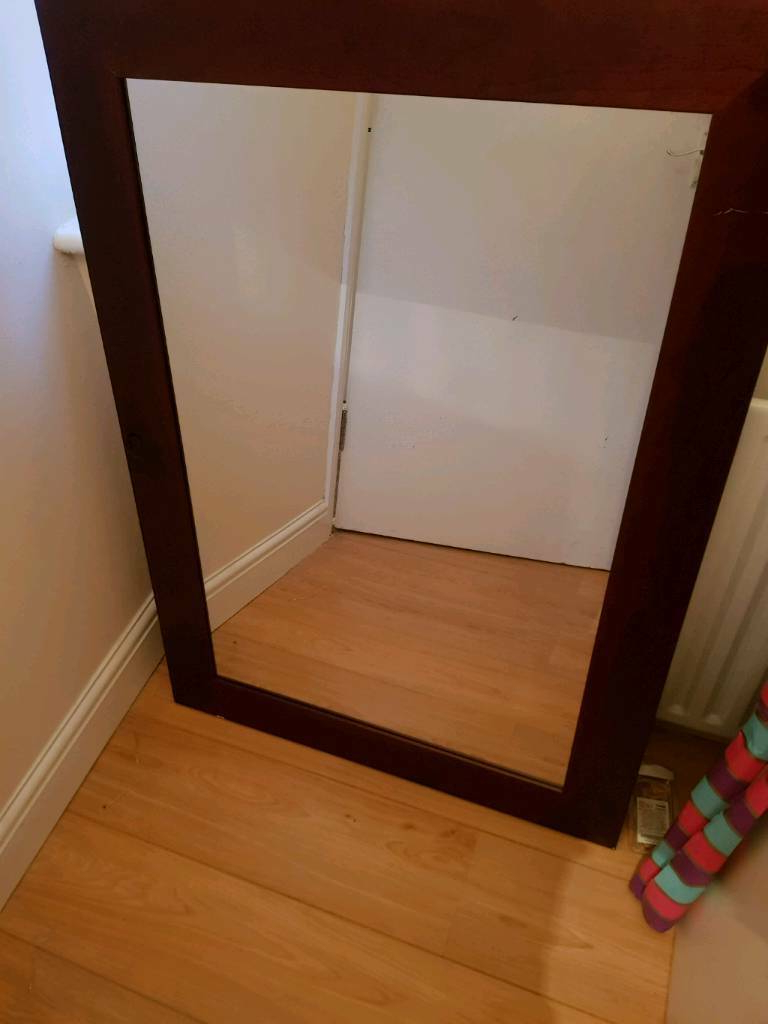 !! Look !! Beautiful Big Wall Mirror Solid Wood Frame 106cm X 76cm Cheap Price (View 11 of 20)