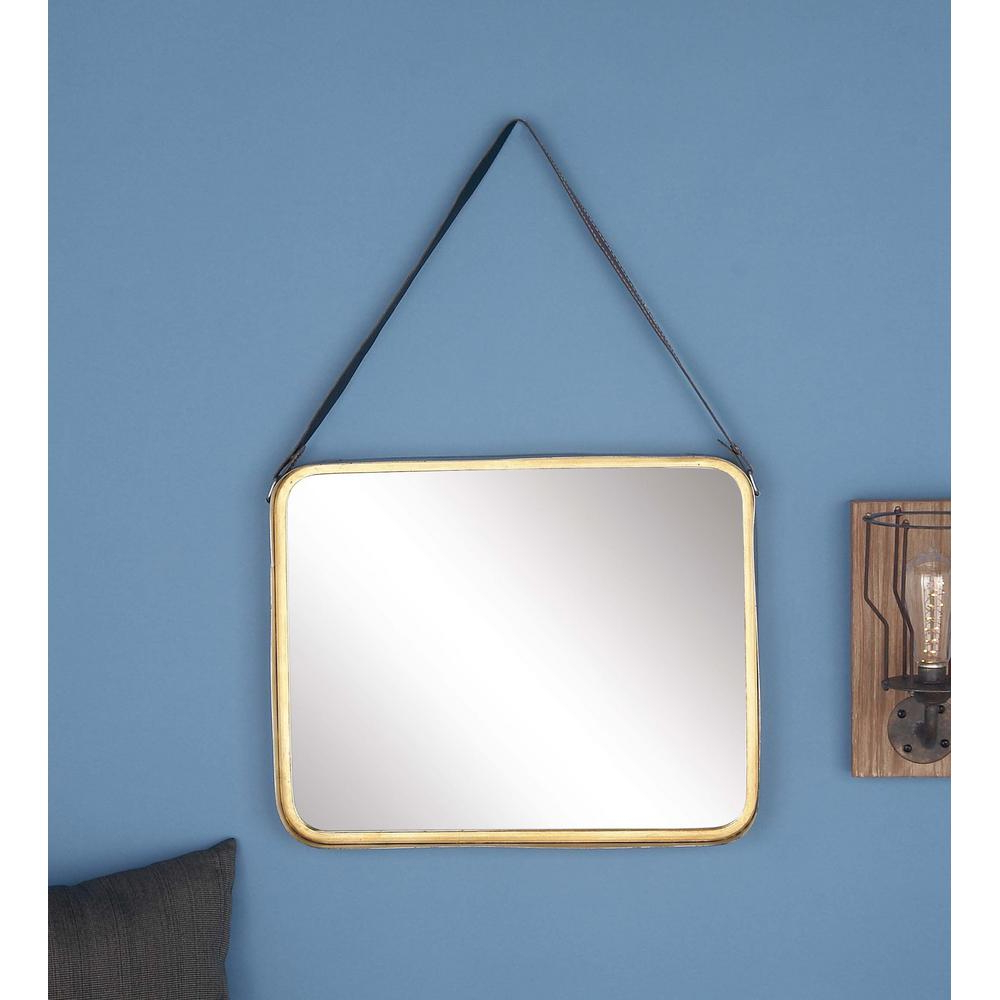 Lugo Rectangle Accent Mirrors With Regard To Well Known Litton Lane 30 In. X 20 In. Rectangular Gold Metal Framed Mirror (Gallery 19 of 20)
