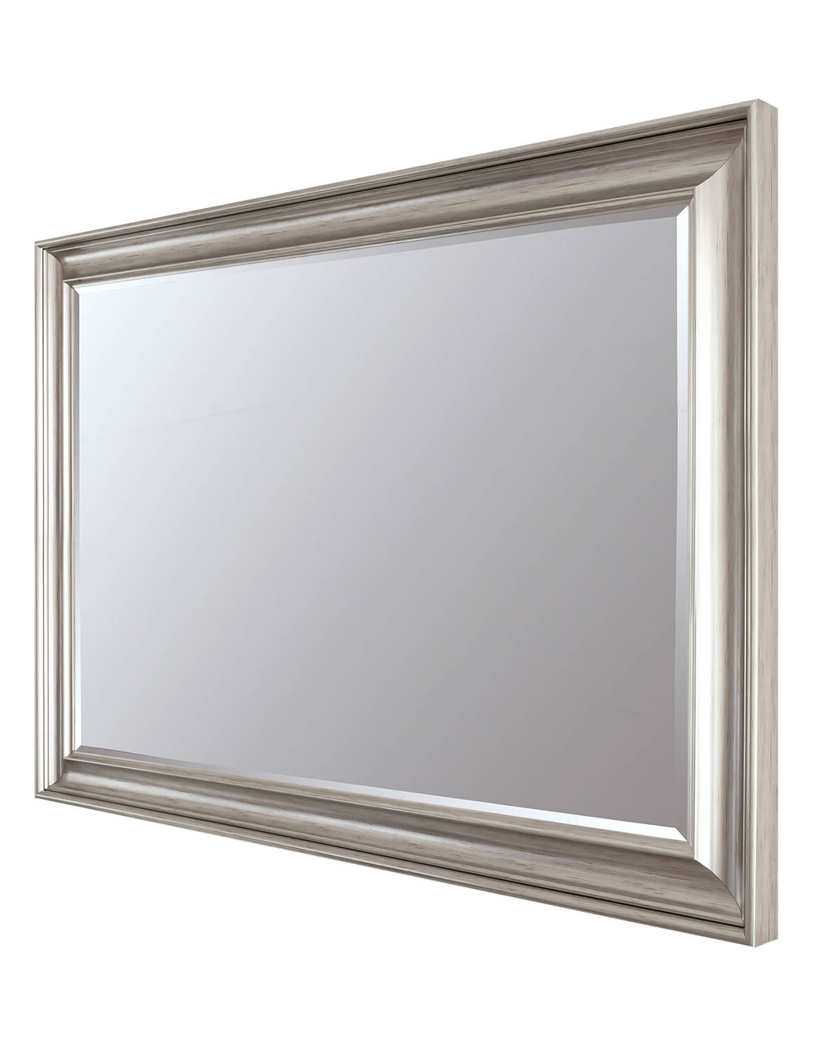 Luxe Silver 92X118Cm Large Wall Mirror With Regard To Well Known Silver Wall Mirrors (Gallery 12 of 20)