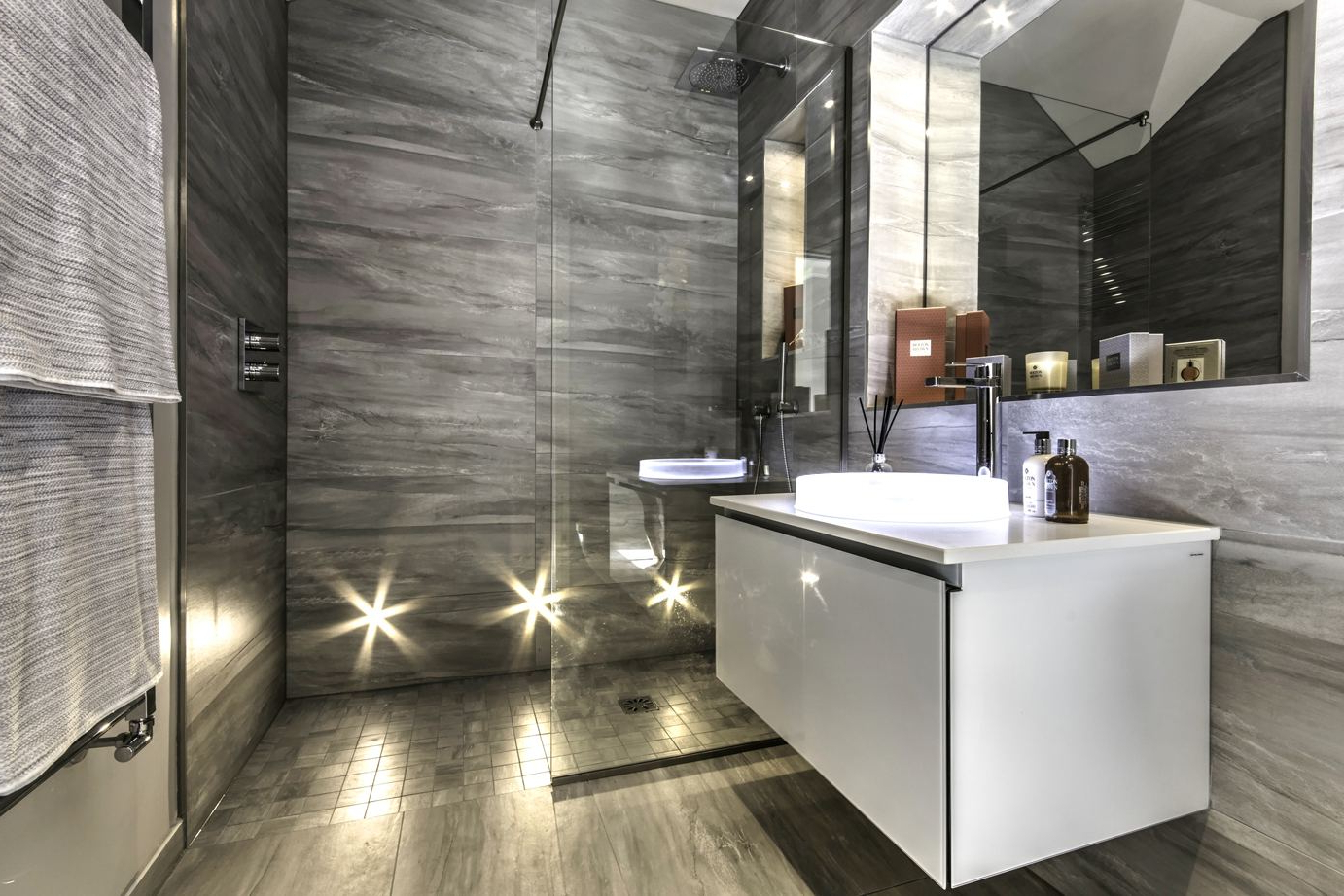 Luxury Bathroom Showers Unique Wall Mirror Three Holes Stylish Led With Regard To Fashionable Fancy Bathroom Wall Mirrors (Gallery 9 of 20)