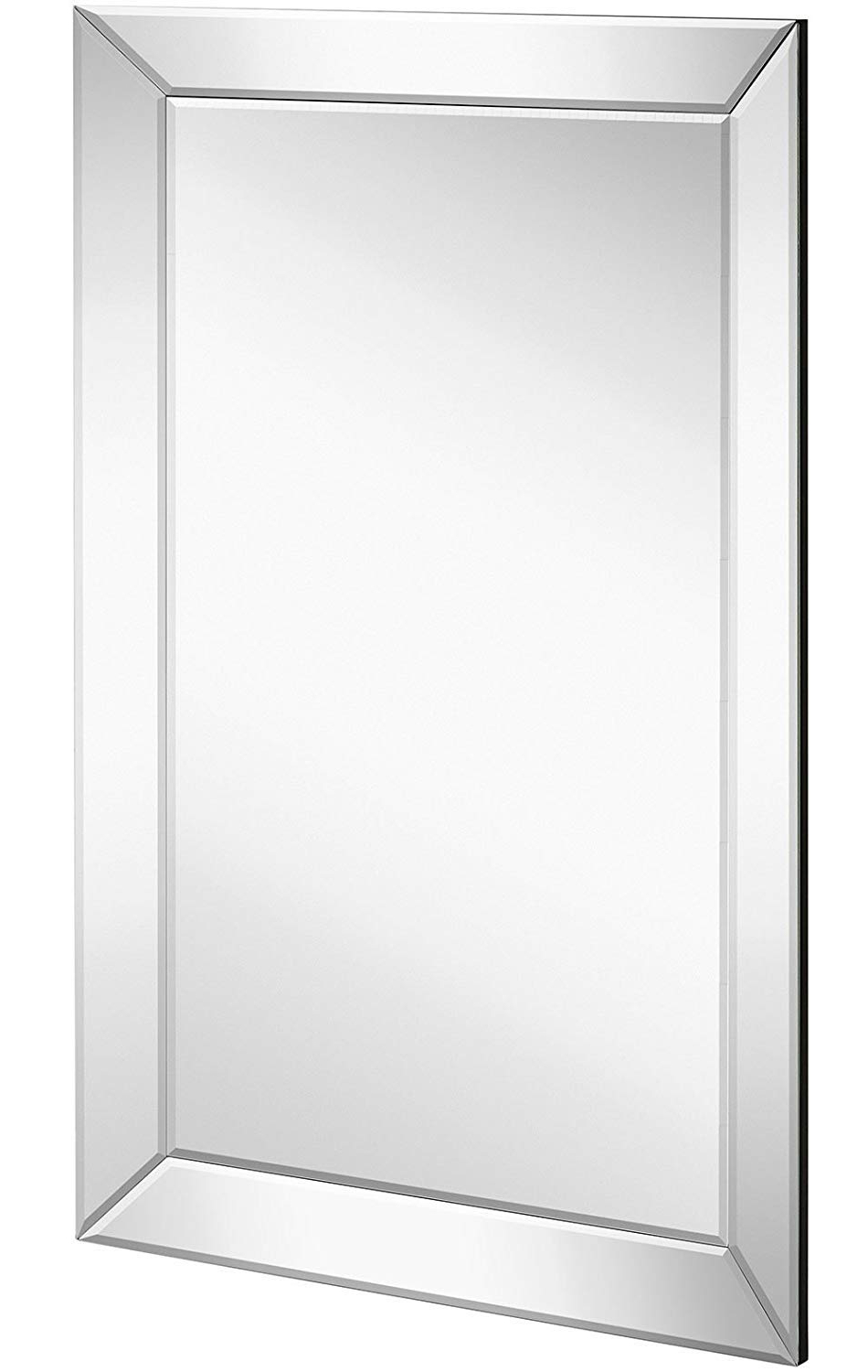 Luxury Mirrored Rectangle For Large Beveled Wall Mirrors (View 11 of 20)