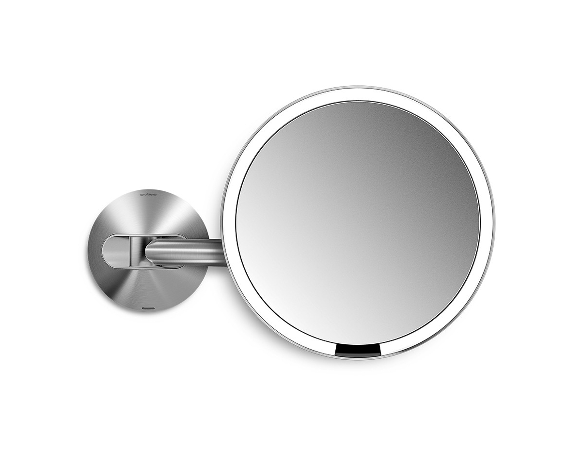 Magnifying Wall Mirrors For Bathroom Pertaining To 2019 Brushed 20cm Wall Mount Sensor Mirror Rechargeable 5x Magnificationstainless Steel (View 8 of 20)