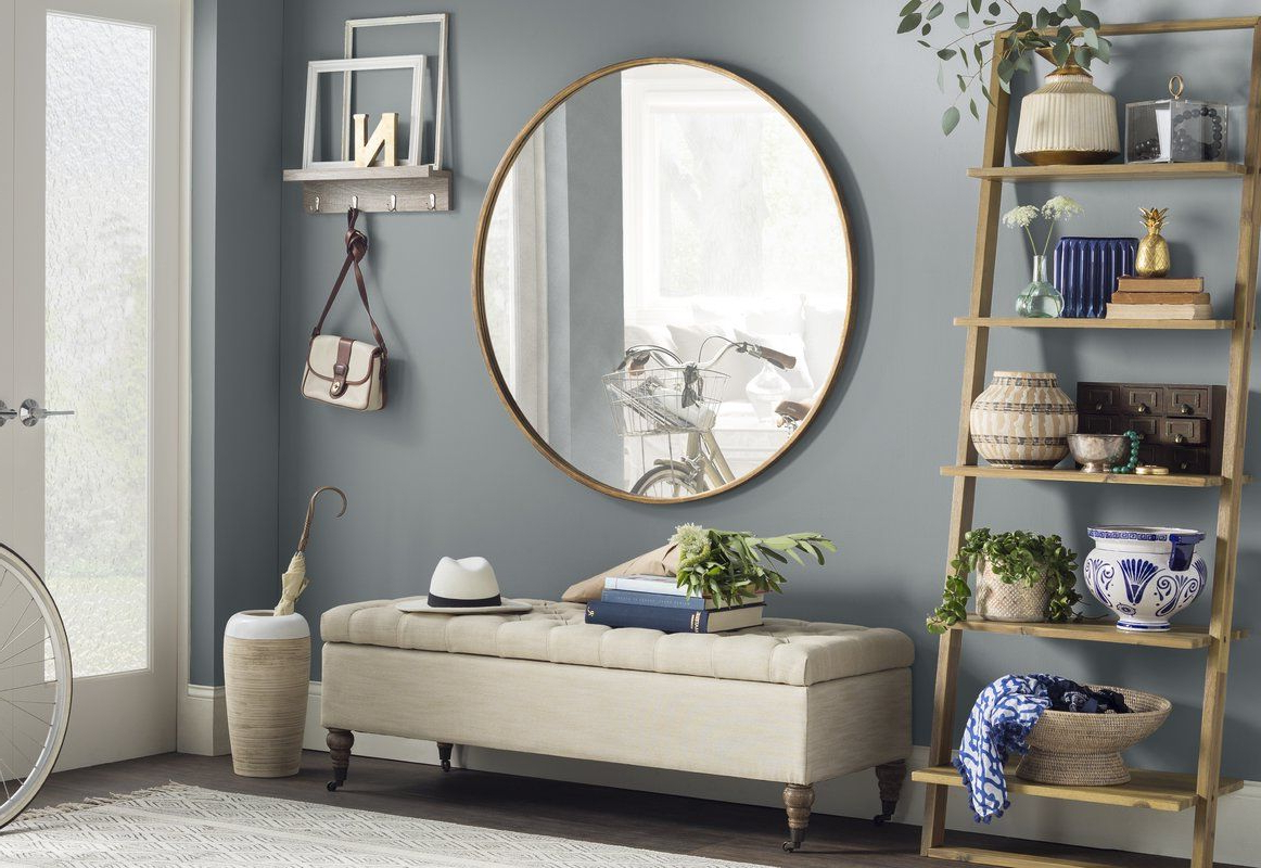 Mahanoy Modern And Contemporary Distressed Accent Mirror In 2019 Regarding Newest Mahanoy Modern And Contemporary Distressed Accent Mirrors (View 6 of 20)