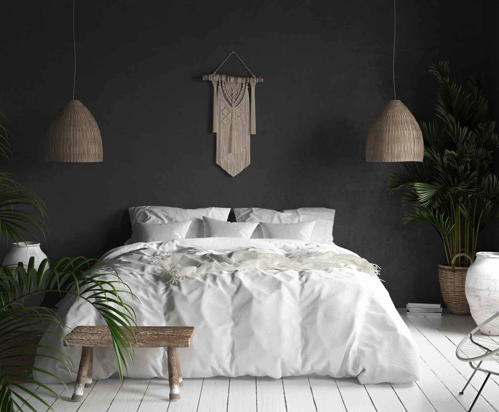 Mahanoy Modern And Contemporary Distressed Accent Mirrors For Most Current 15 Black Rooms That Prove Dark Colors Don't Shrink A Space (View 7 of 20)