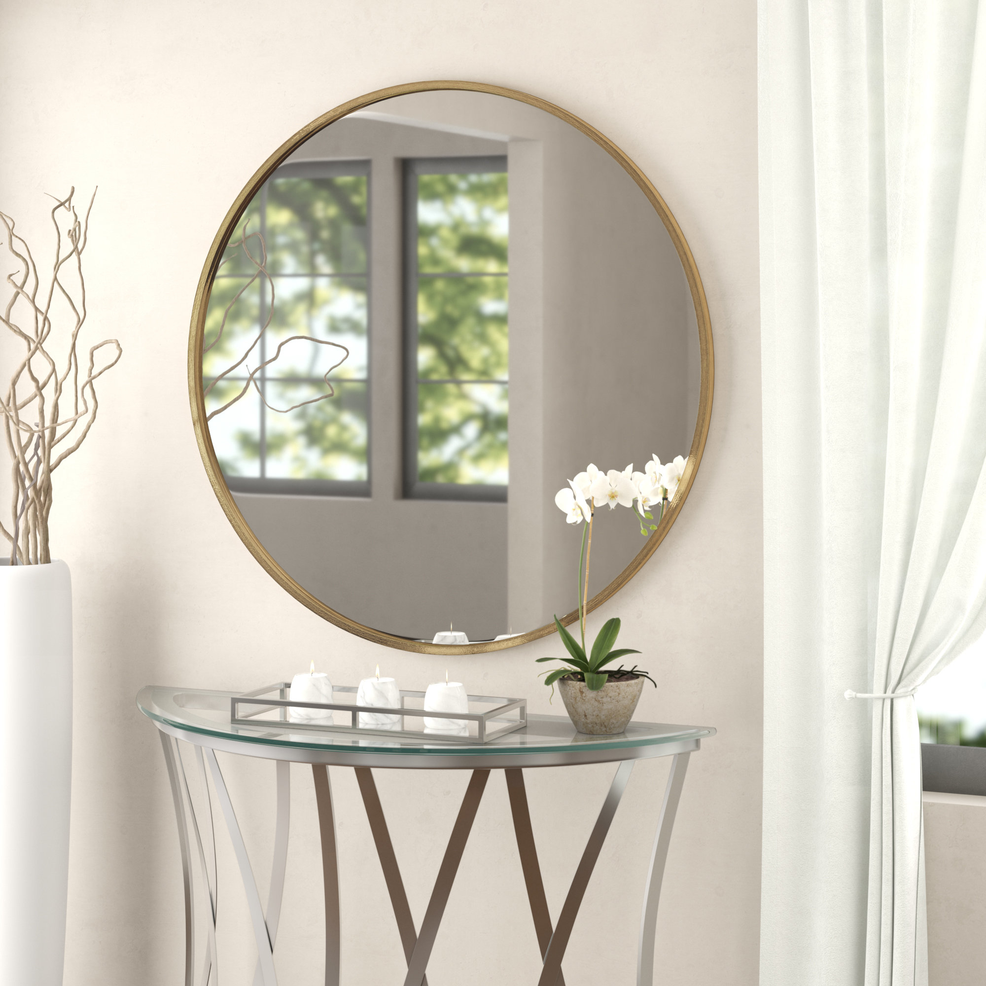 Featured Photo of Mahanoy Modern And Contemporary Distressed Accent Mirrors