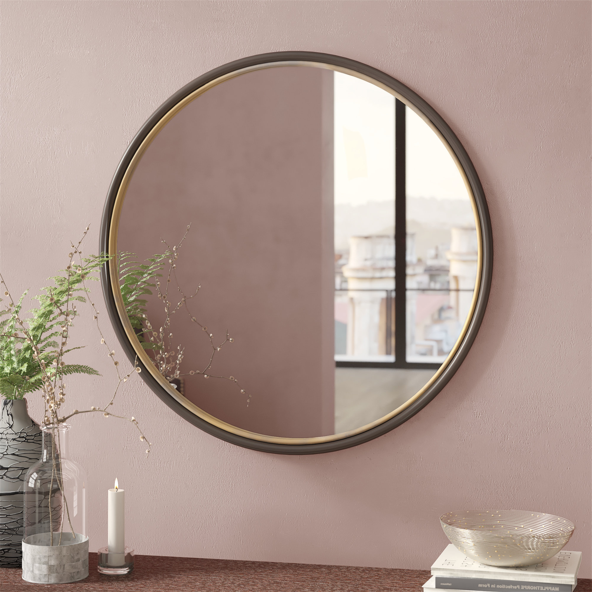 Mahanoy Modern And Contemporary Distressed Accent Mirrors With Regard To 2019 Labriola Modern & Contemporary Bathroom/vanity Mirror (View 10 of 20)