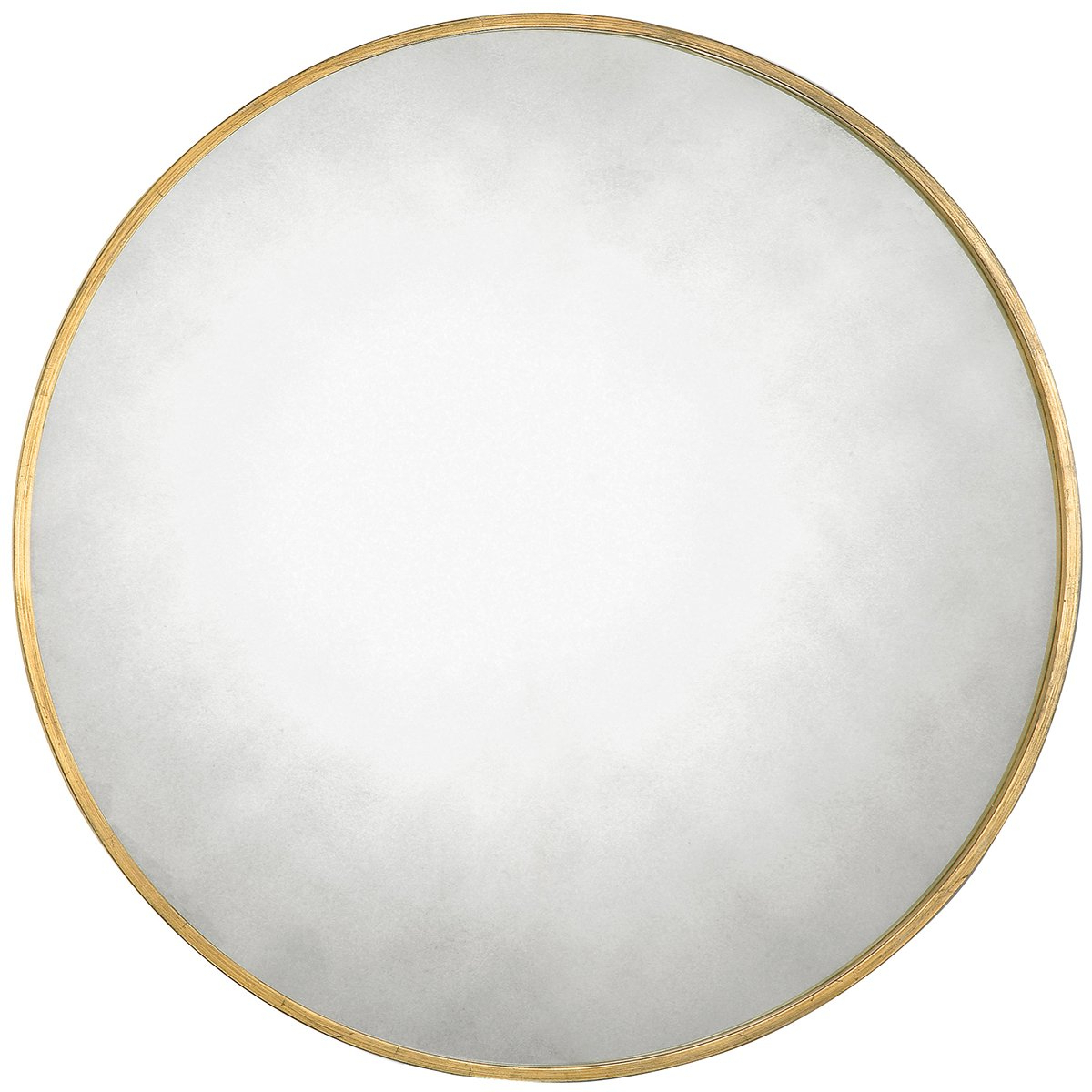 Mahanoy Modern And Contemporary Distressed Accent Mirrors Within Latest Uttermost 13887 Junius Round Mirror, Gold (View 11 of 20)