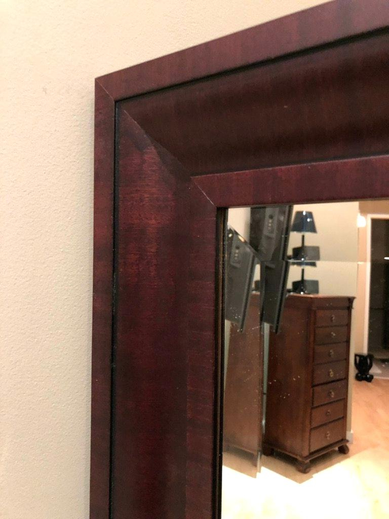 Mahogany Framed Mirror Standing Or Hanging Wood Mahogany With Regard To Well Known Mahogany Wall Mirrors (Gallery 18 of 20)