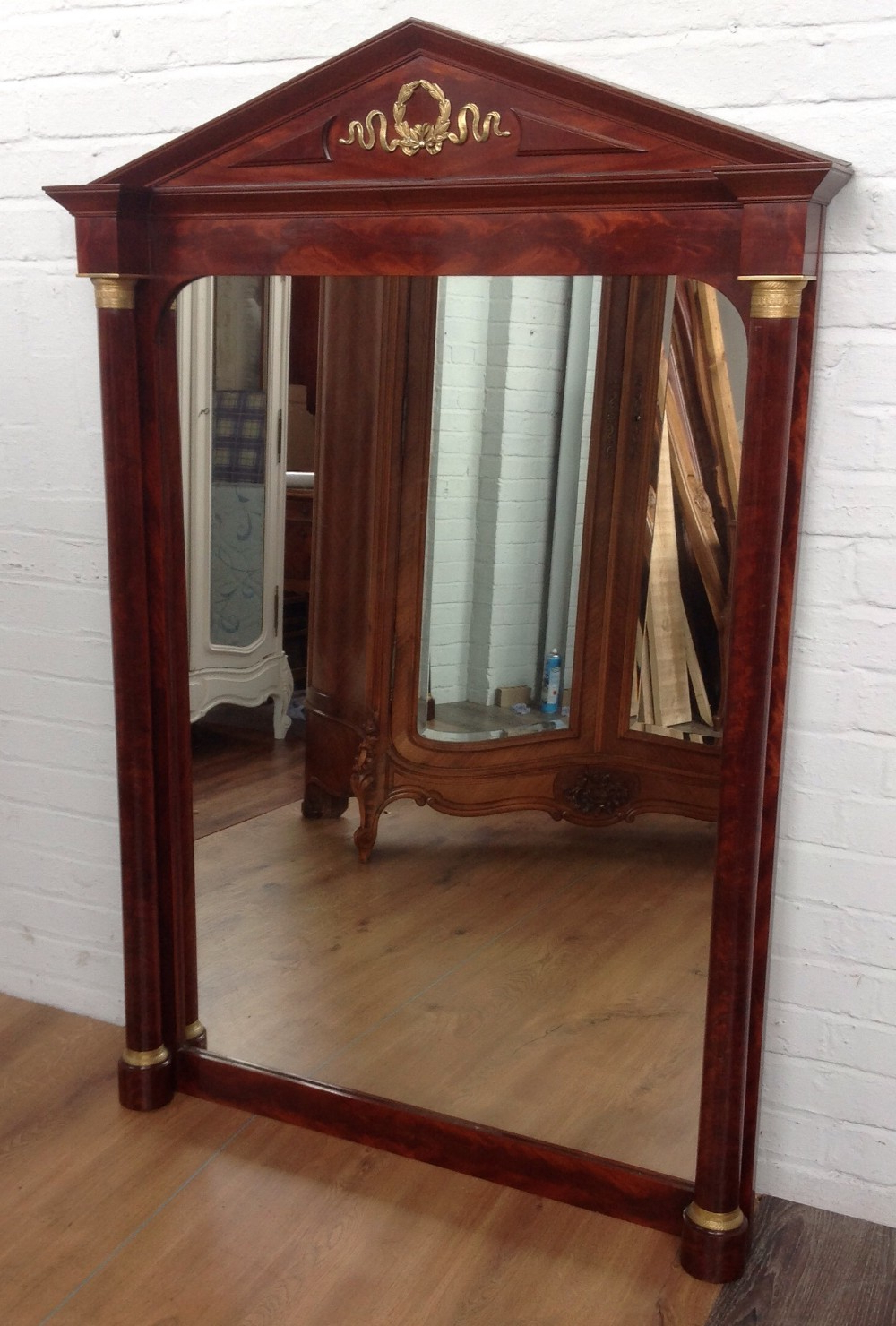 Mahogany Wall Mirrors With Regard To Most Recent Large French Mahogany Wall Mirror. (Gallery 6 of 20)