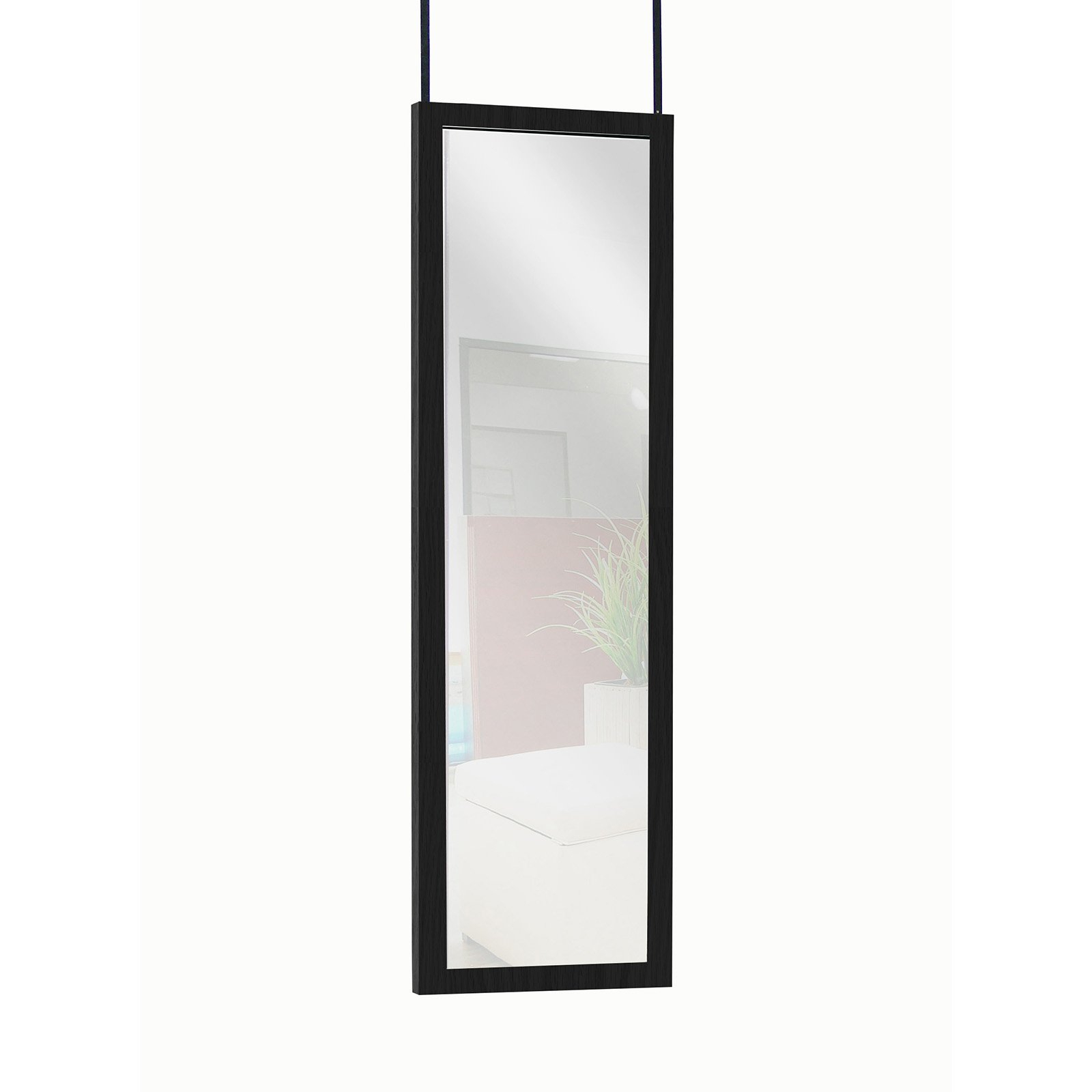 "Mainstays Over The Door Full Length Dressing Mirror – 13"" X 49"" Throughout Trendy Shatterproof Wall Mirrors (View 16 of 20)"