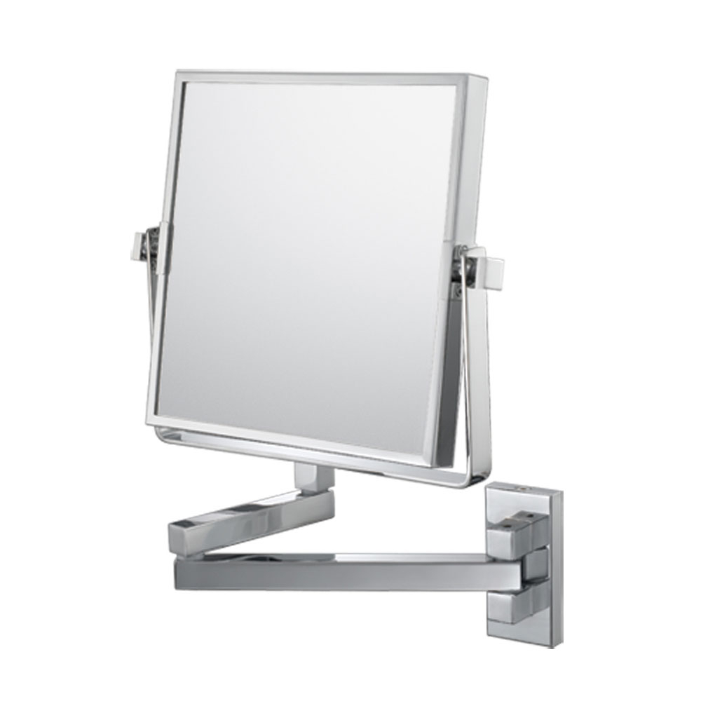 Makeup Wall Mirrors Intended For Famous The Double Sided Square Wall Mounted Makeup Mirror In Wall Mirrors (View 10 of 20)