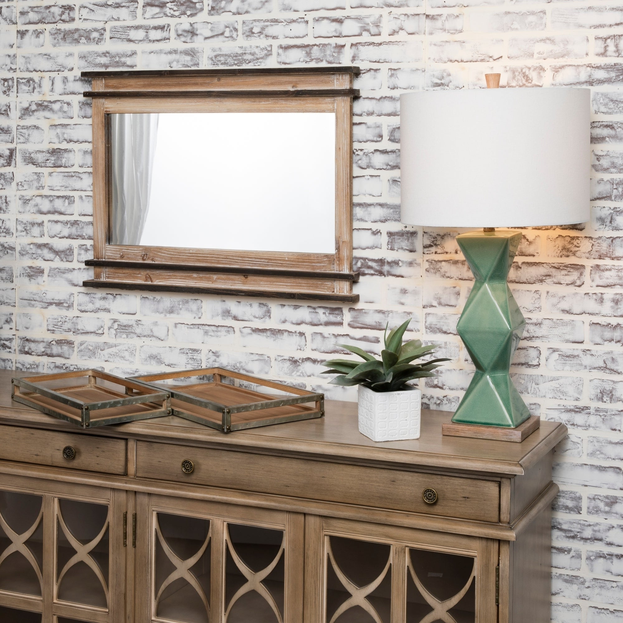 Mantle Reflection Natural Wood Horizontal Wall Mirror – A/n Inside Favorite Horizontal Wall Mirrors (View 10 of 20)